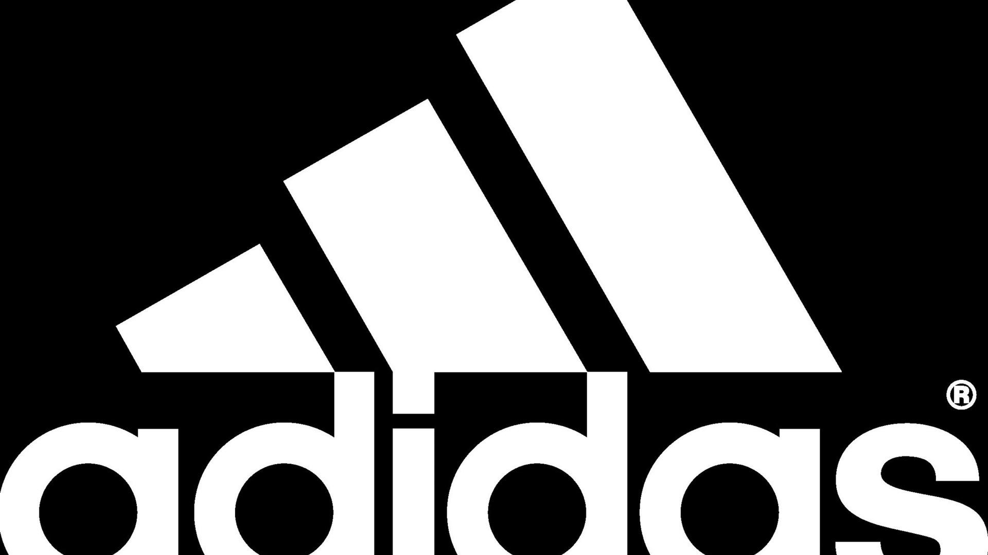 Description: Adidas black white logo-2012 brand advertising Wallpaper ...