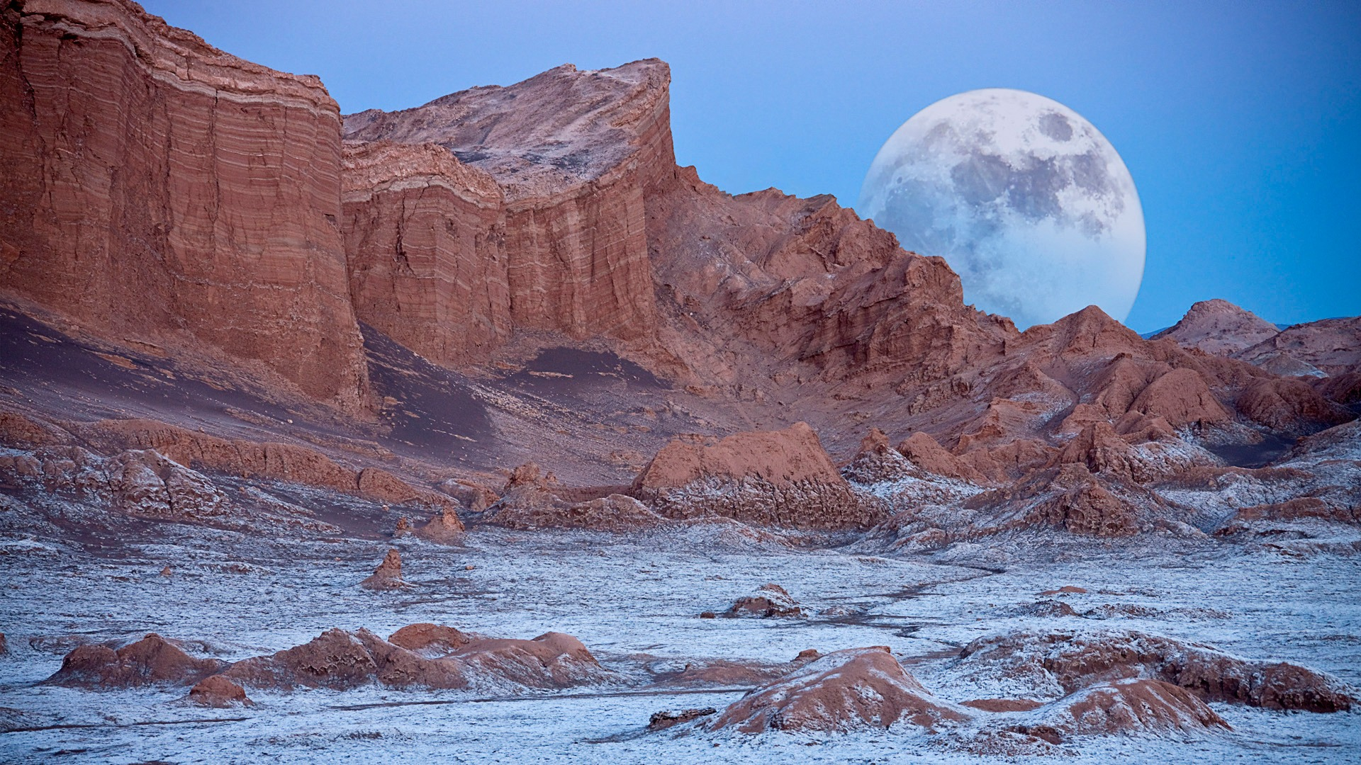 chile valley of the moon atacama desert-natural landscape hd