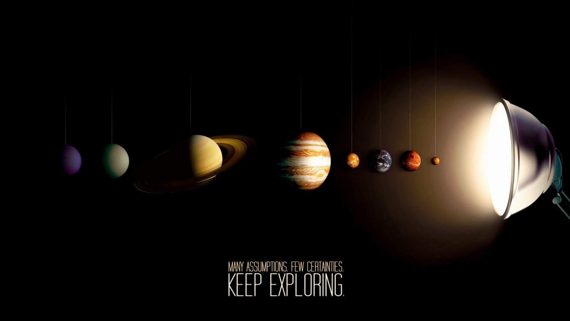 Solar System Universe Space Hd Desktop Wallpaper Preview