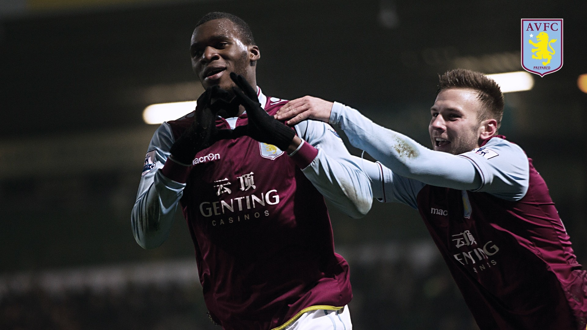 Benteke Hearts Villa Fans-Aston Villa 2013 HD Wallpaper