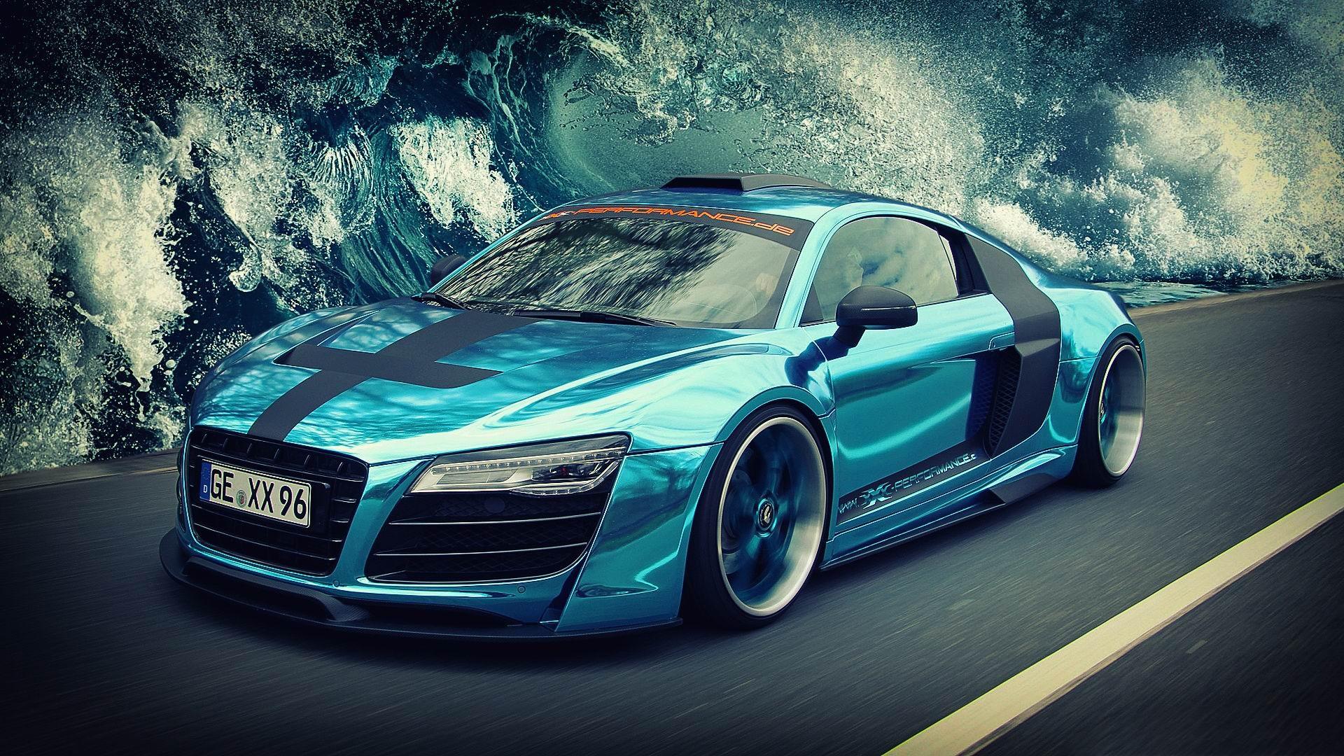 Audi 666 voitures hd fond d 39 cran 1920x1080 t l chargement for Fond ecran voiture sport