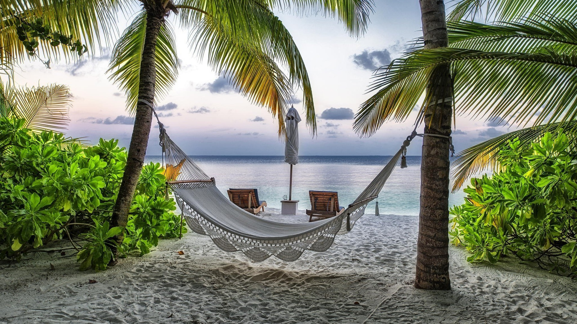 Hammock on Beach-Desktop Wallpaper - 1920x1080 download ...