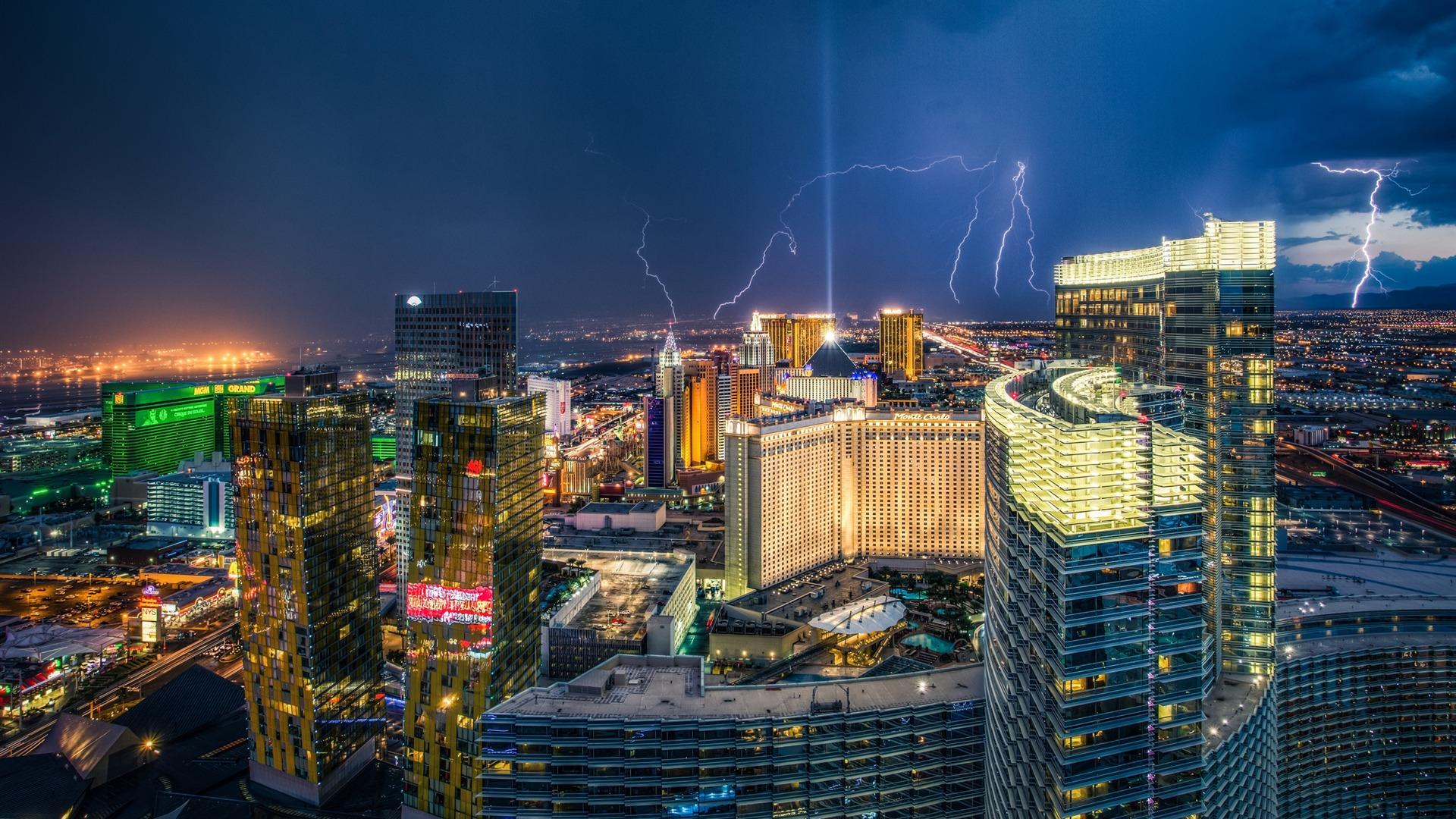 Las Vegas Lightnings Cities Hd Wallpaper Preview 10wallpaper Com