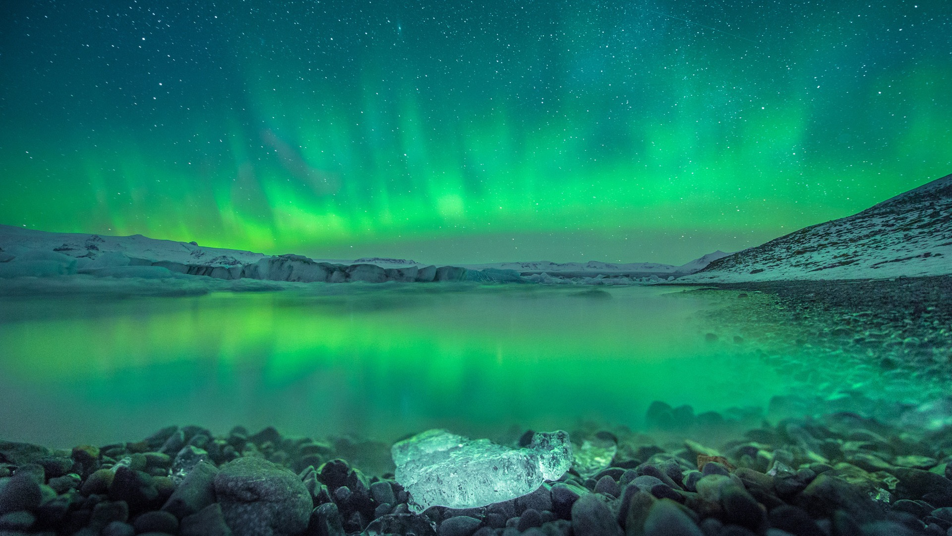 Over Iceland aurora-Windows 10 Theme HD Wallpaper Preview