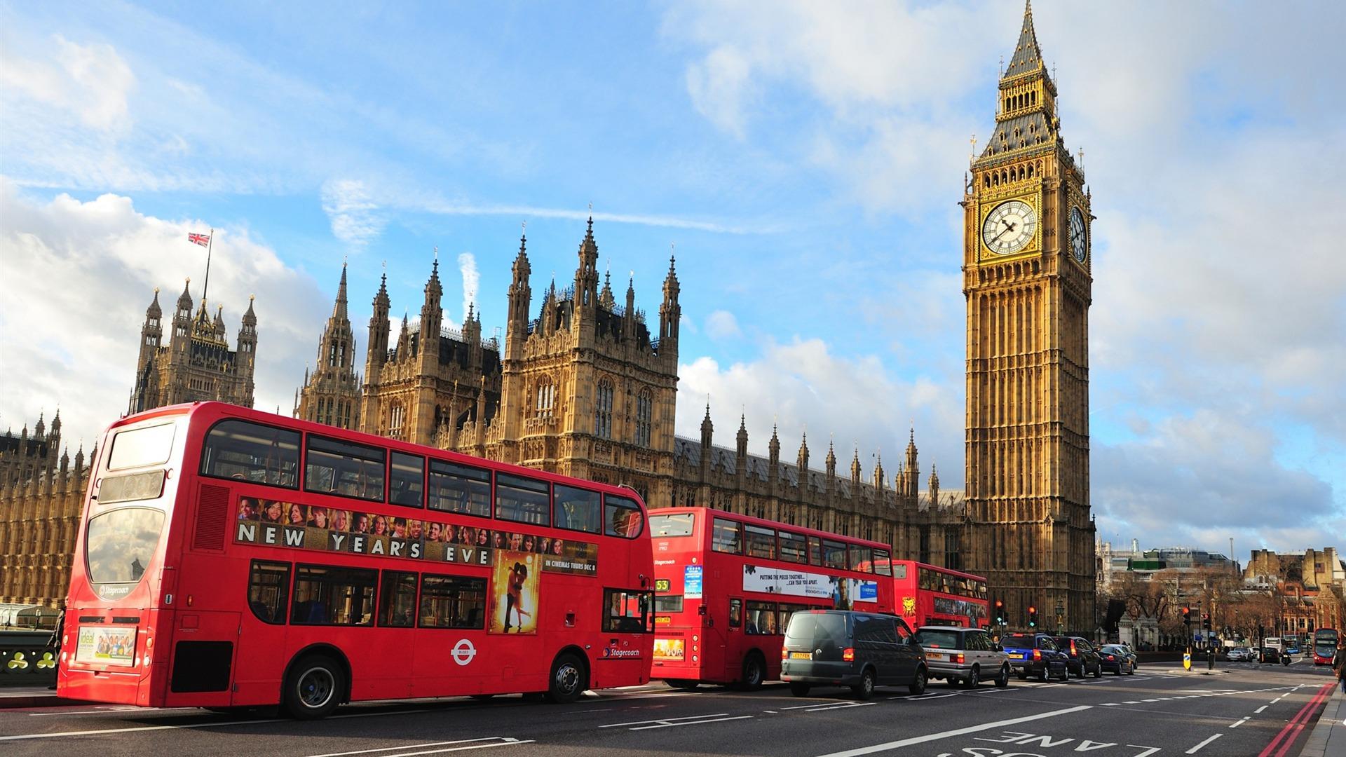 ロンドンビッグベンウェストミンスター寺院バス 都市写真のhdの壁紙