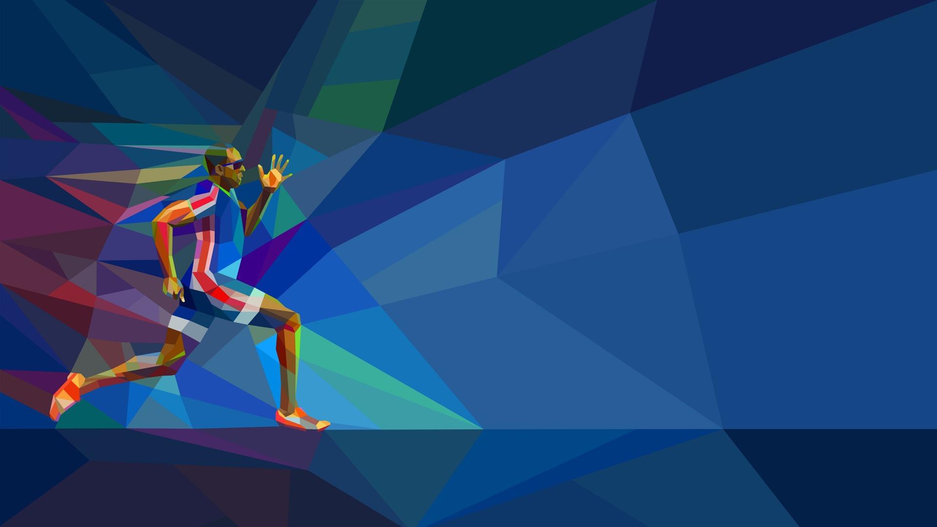 Runner Rio 2016 Juegos Olímpicos Hd Vector Wallpapers Avance