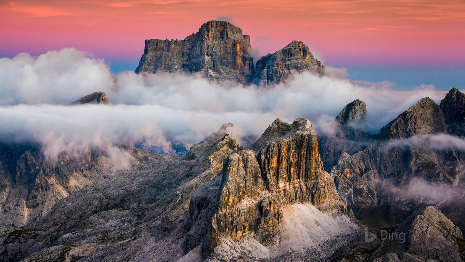Lagazuoi Mountain Near Cortina Italy 2017 Bing Desktop