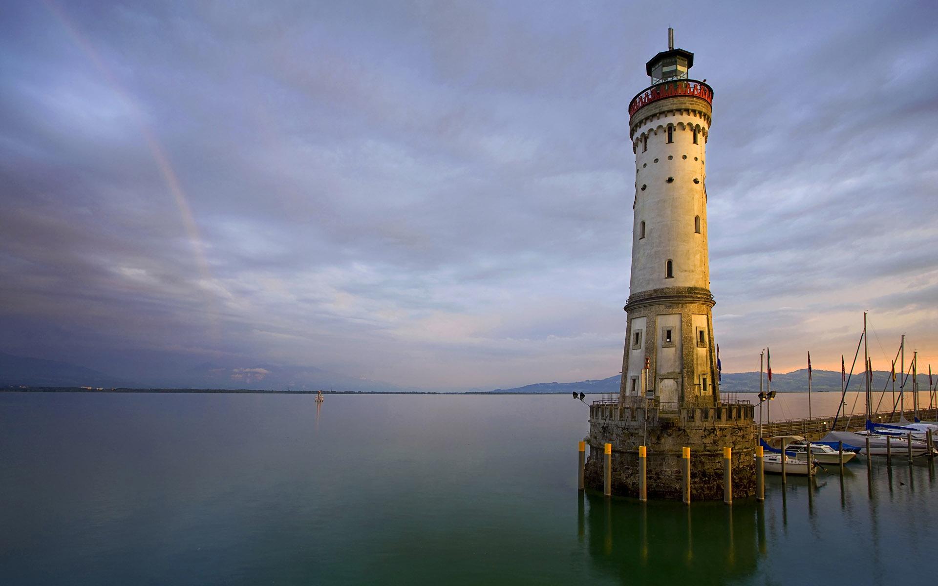 Allemagne lindau sur le lac de constance wallpaper phare for Piscine galaxy allemagne