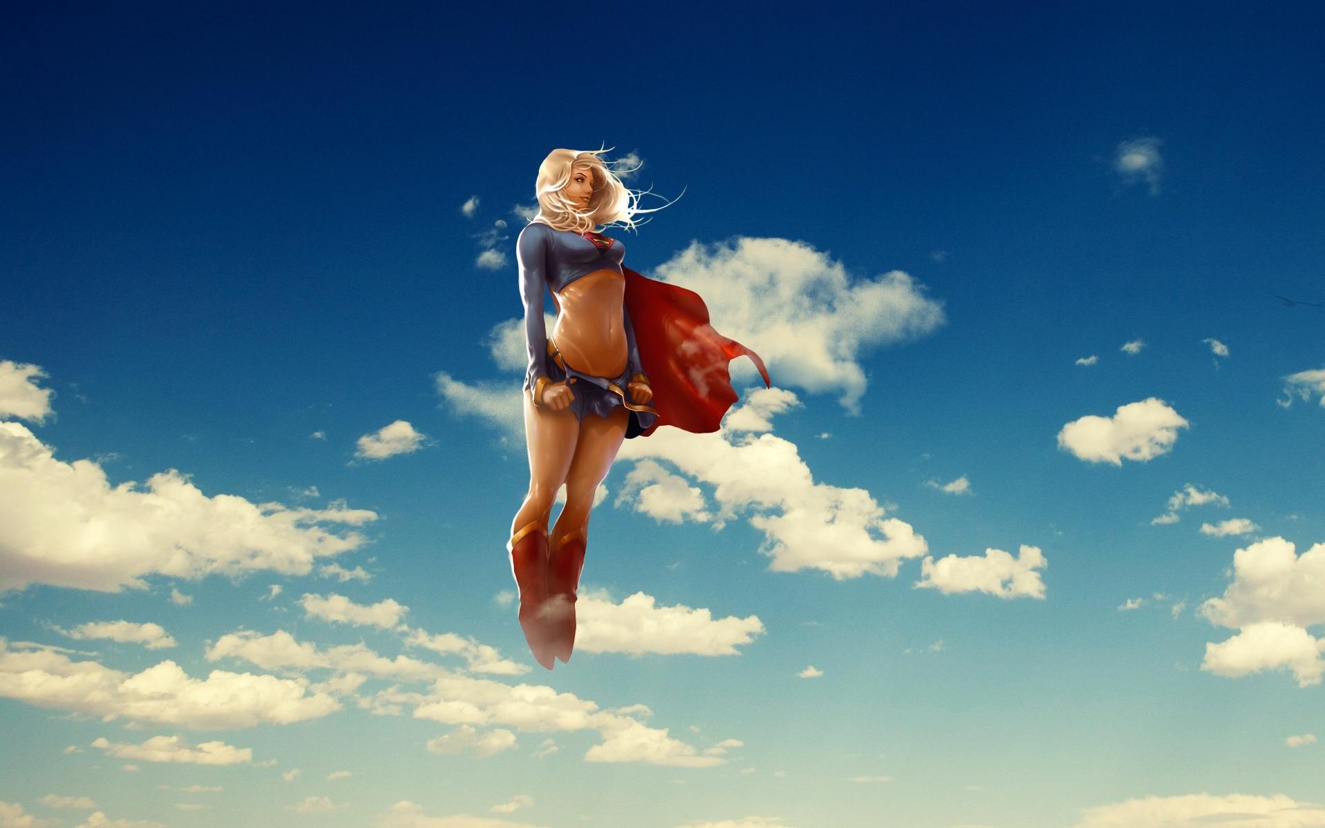 Supergirl 3D Creative Design Desktop Wallpaper 1920x1200
