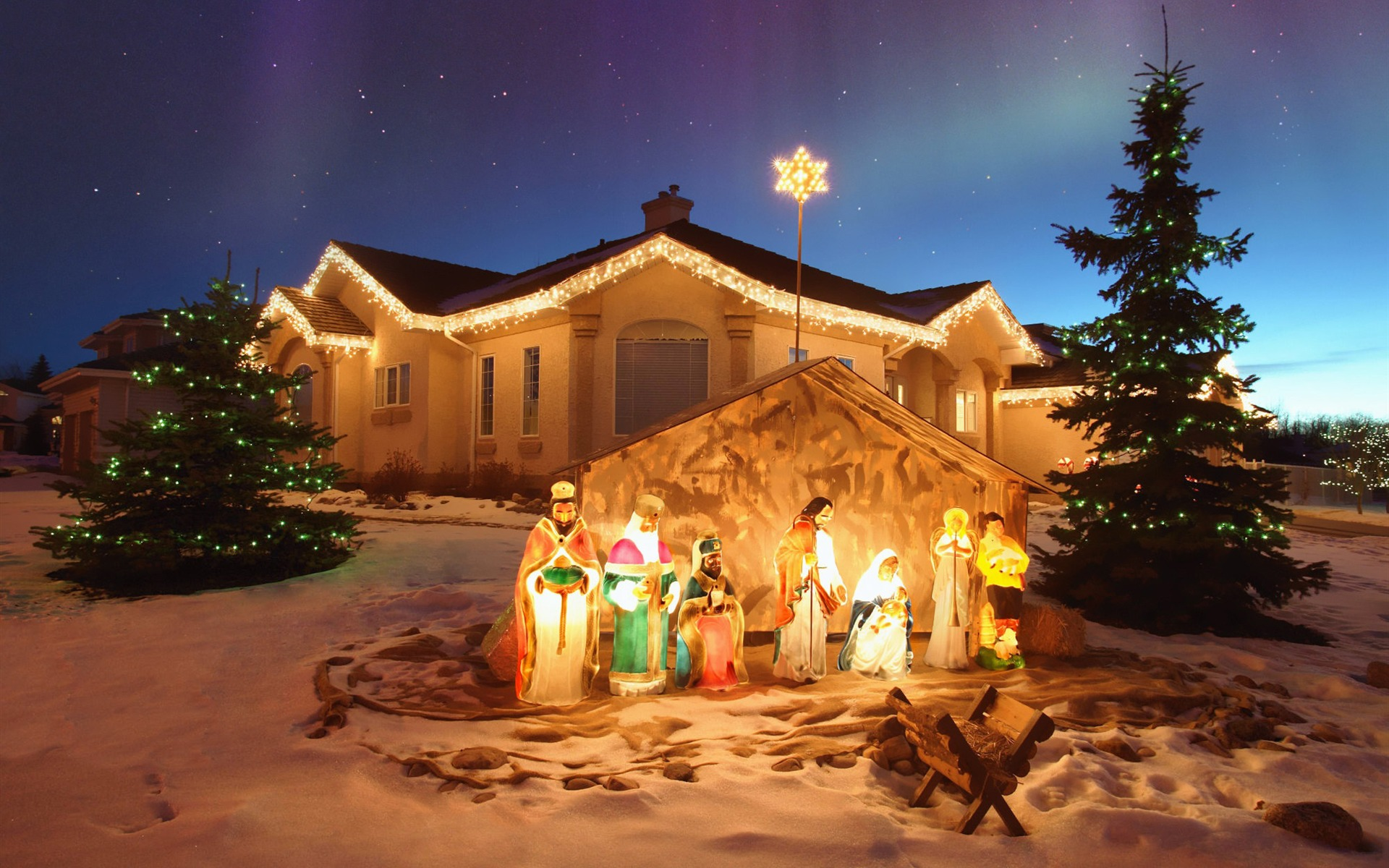 Christmas Nativity Set Outdoor.Outdoor Christmas Nativity Scene Merry Christmas Desktop