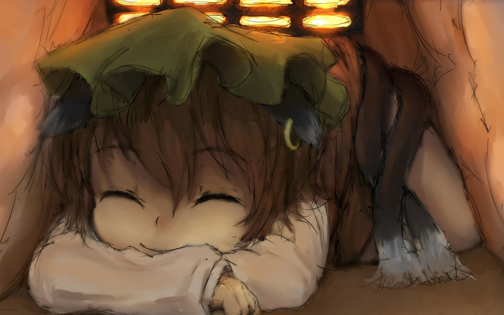 Drawing Sleep Cute Girl Anime Characters Wallpaper Preview 10wallpaper Com