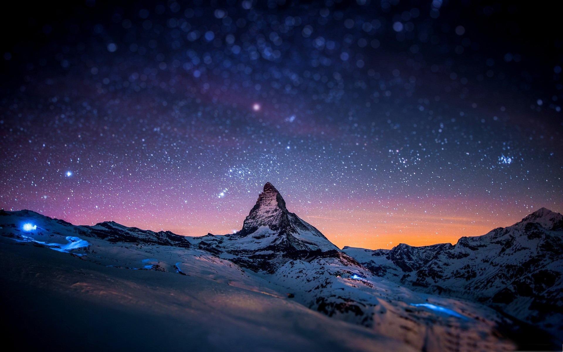 夜の山 山の風景壁紙プレビュー 10wallpaper Com