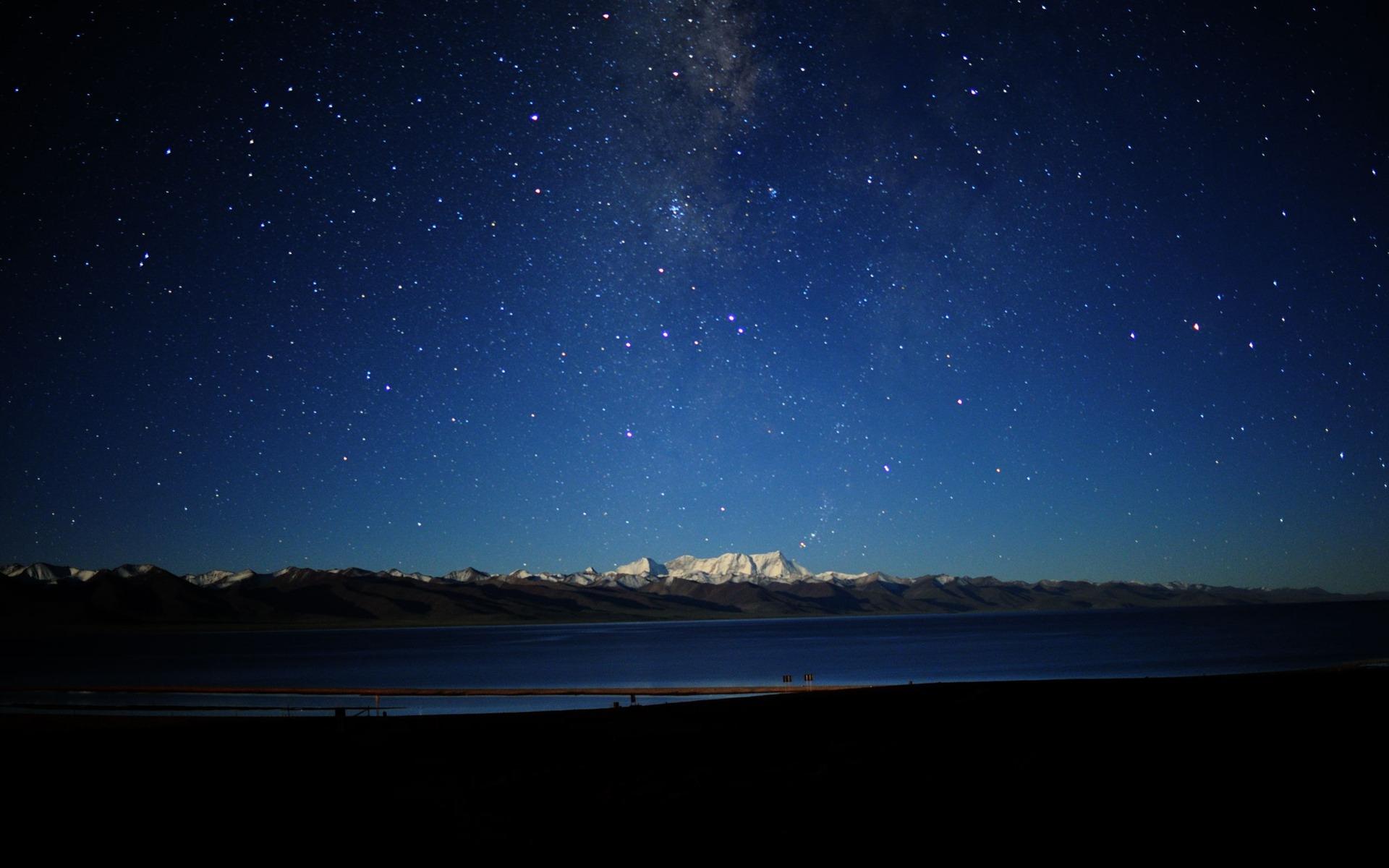 チベットの夜空 自然風景デスクトップ壁紙プレビュー 10wallpaper Com
