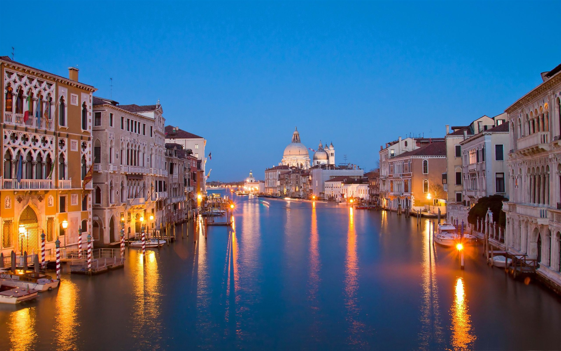 Venice At Night City Landscape Wallpaper Preview