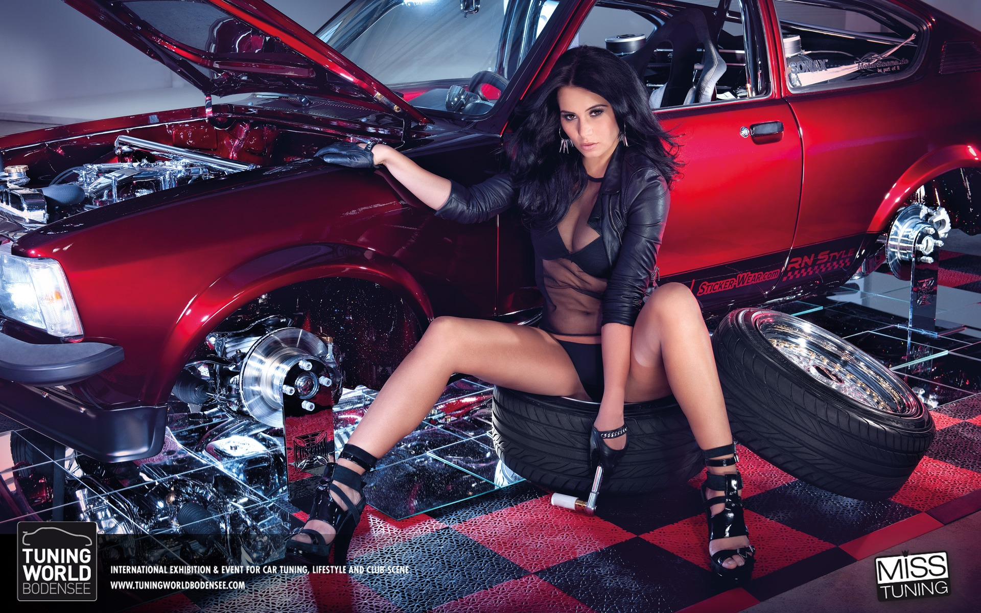 2013 German Tuning Car Models Sexy Lady Hd Wallpapers 10