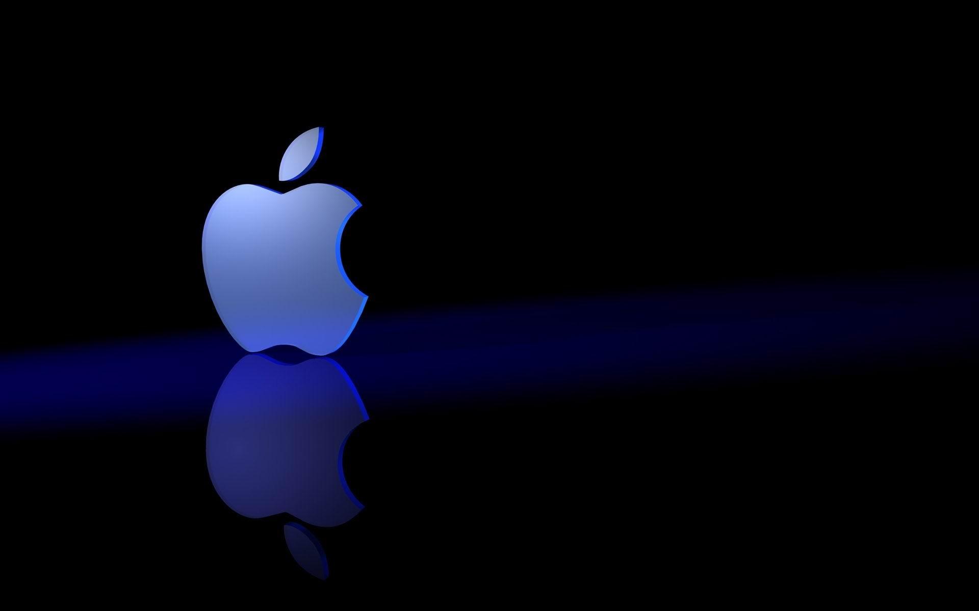 Appleロゴブルー ブランド広告の壁紙プレビュー 10wallpaper Com