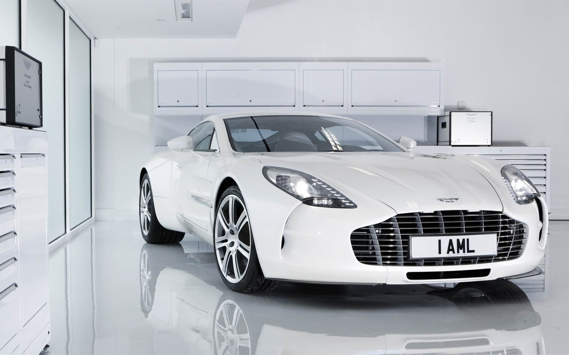 White Aston Martin One 2012 Luxury Car Hd Wallpaper