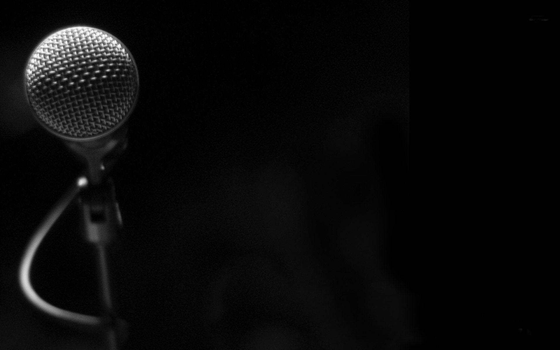 Microphone-music Theme Desktop Wallpaper Preview