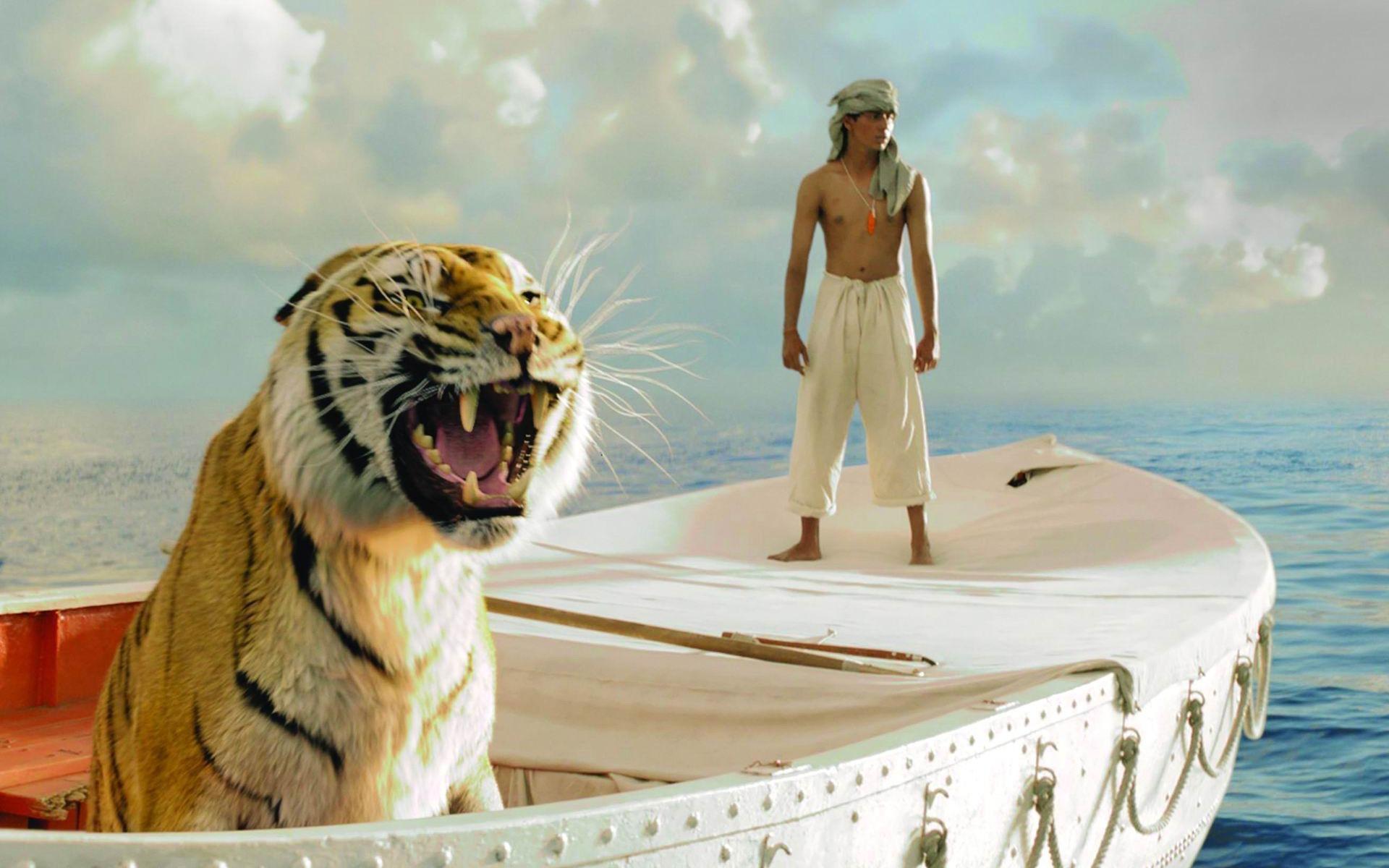 тигр в лодке с парнем кино