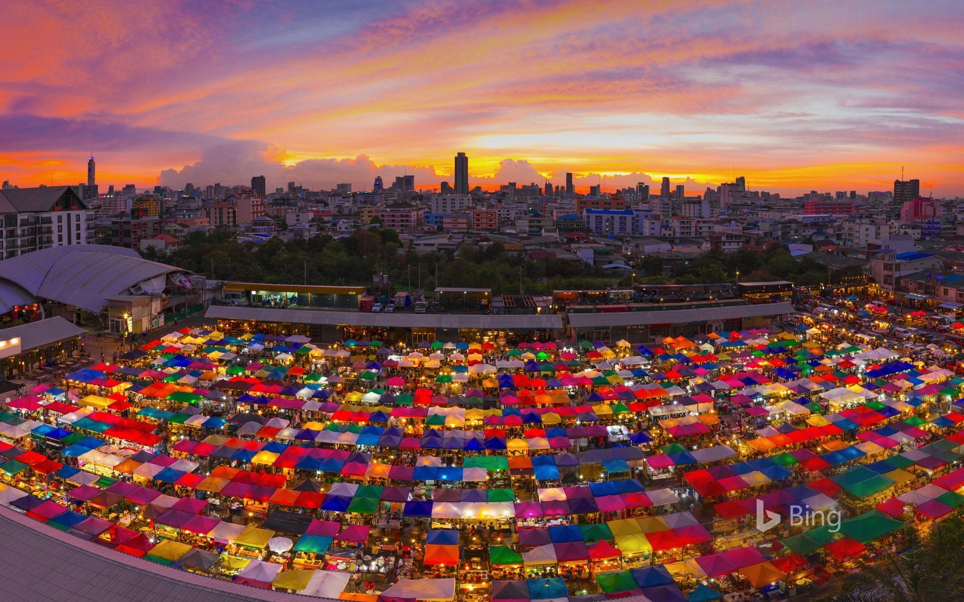 Thailand Bangkok Ratchada Night Market 2016 Bing Desktop