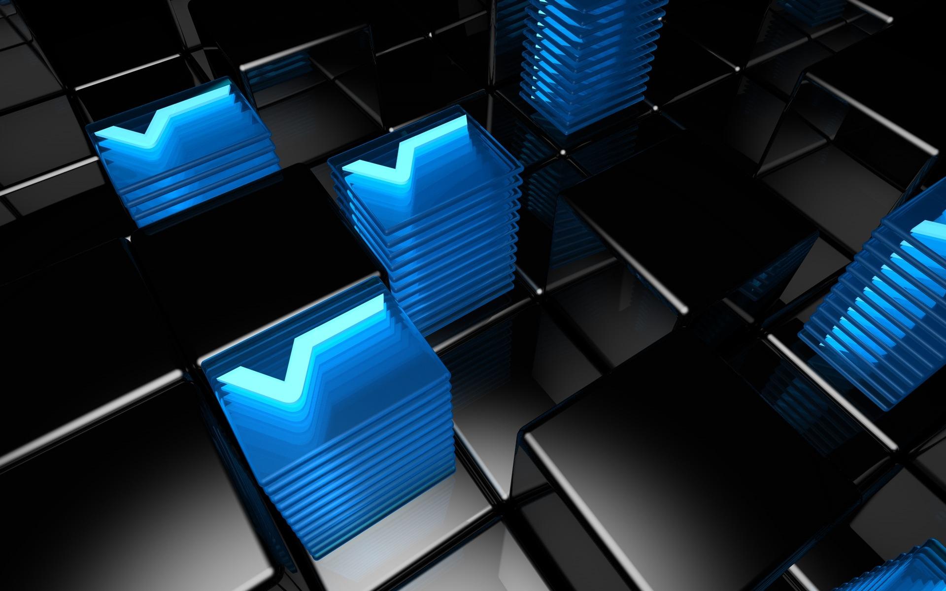 ブルーブラックライトを形作ります 3dアートワークベクトルの壁紙プレビュー 10wallpaper Com