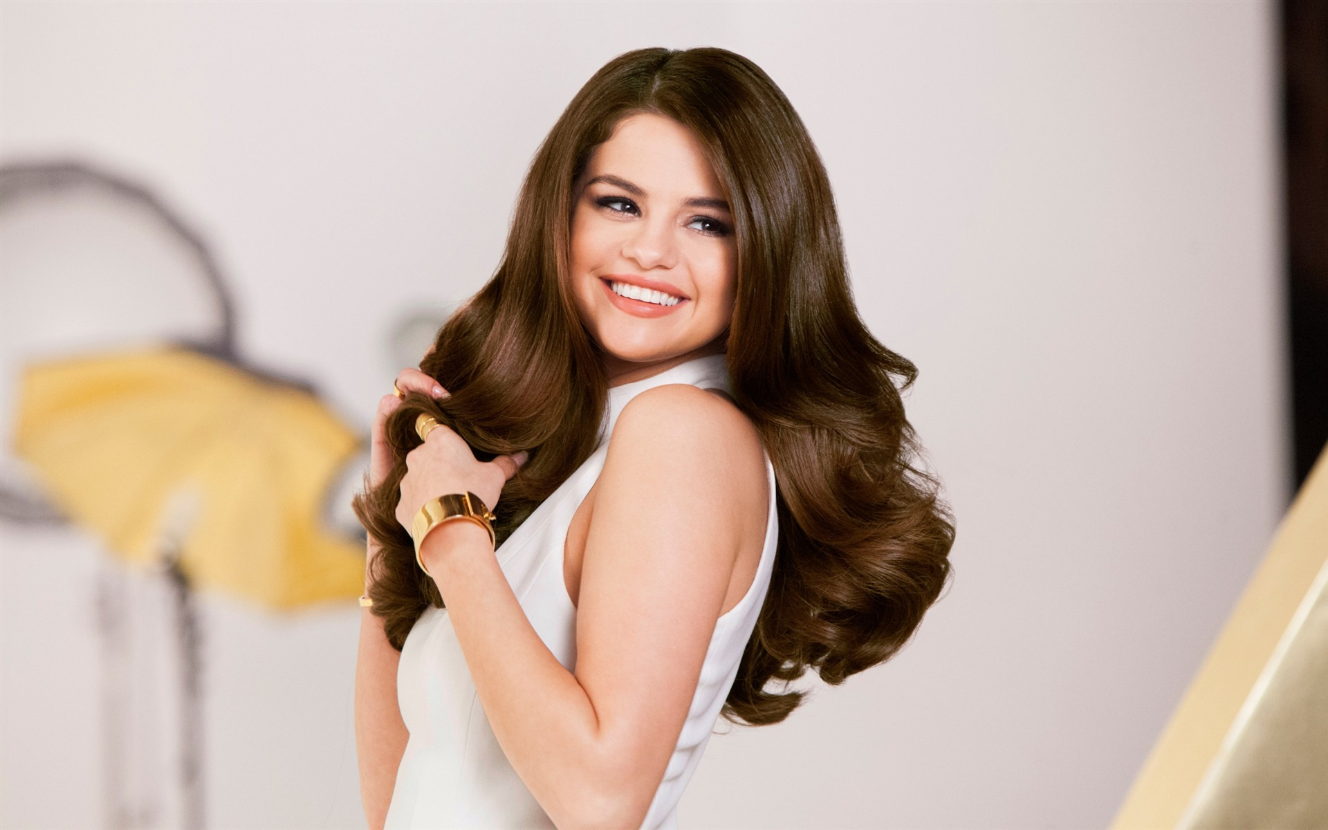 Selena Gomez Pantene Actriz Model Photo Wallpaper Avance