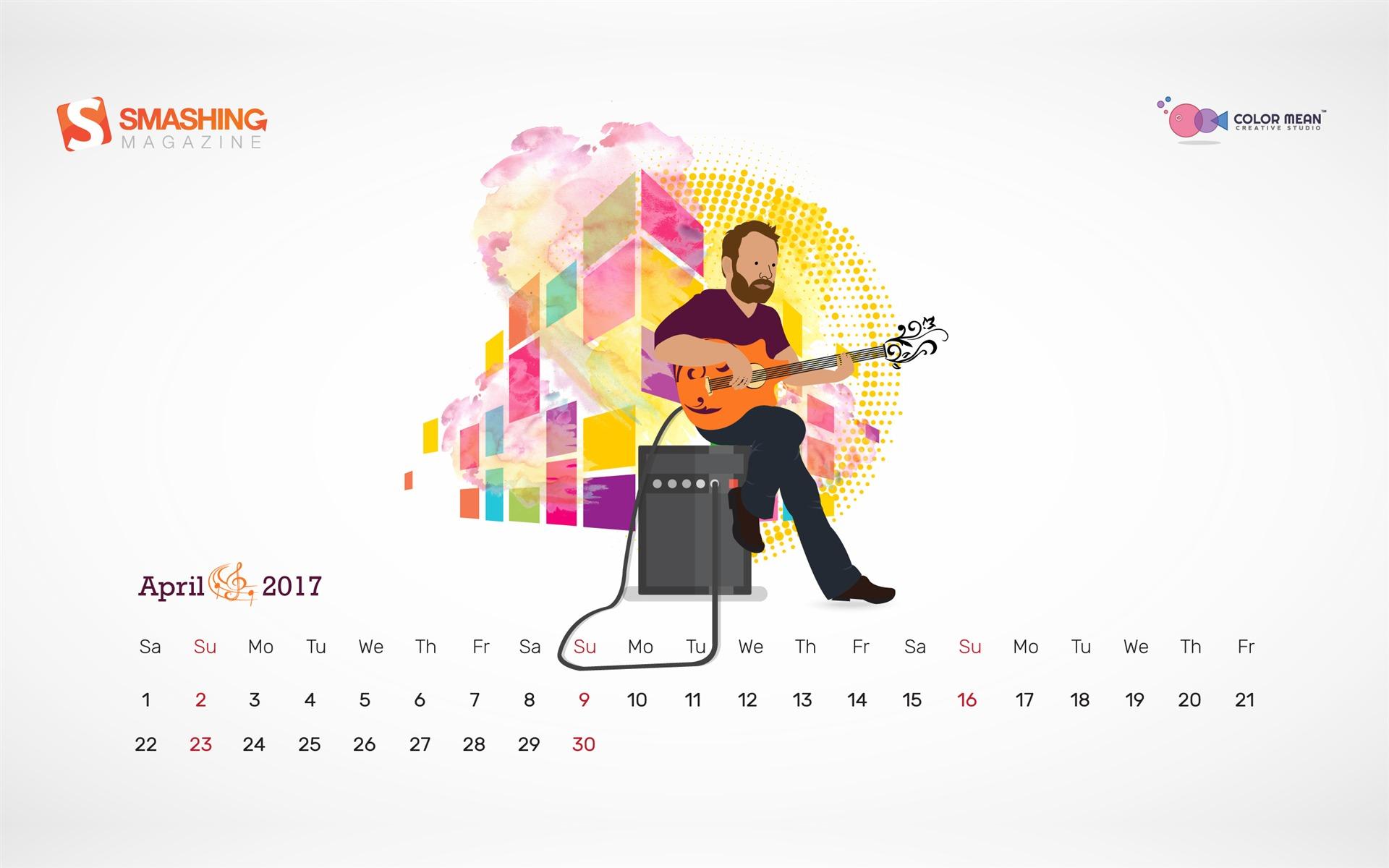 Other Aprils Octave April 2017 Calendar Wallpaper