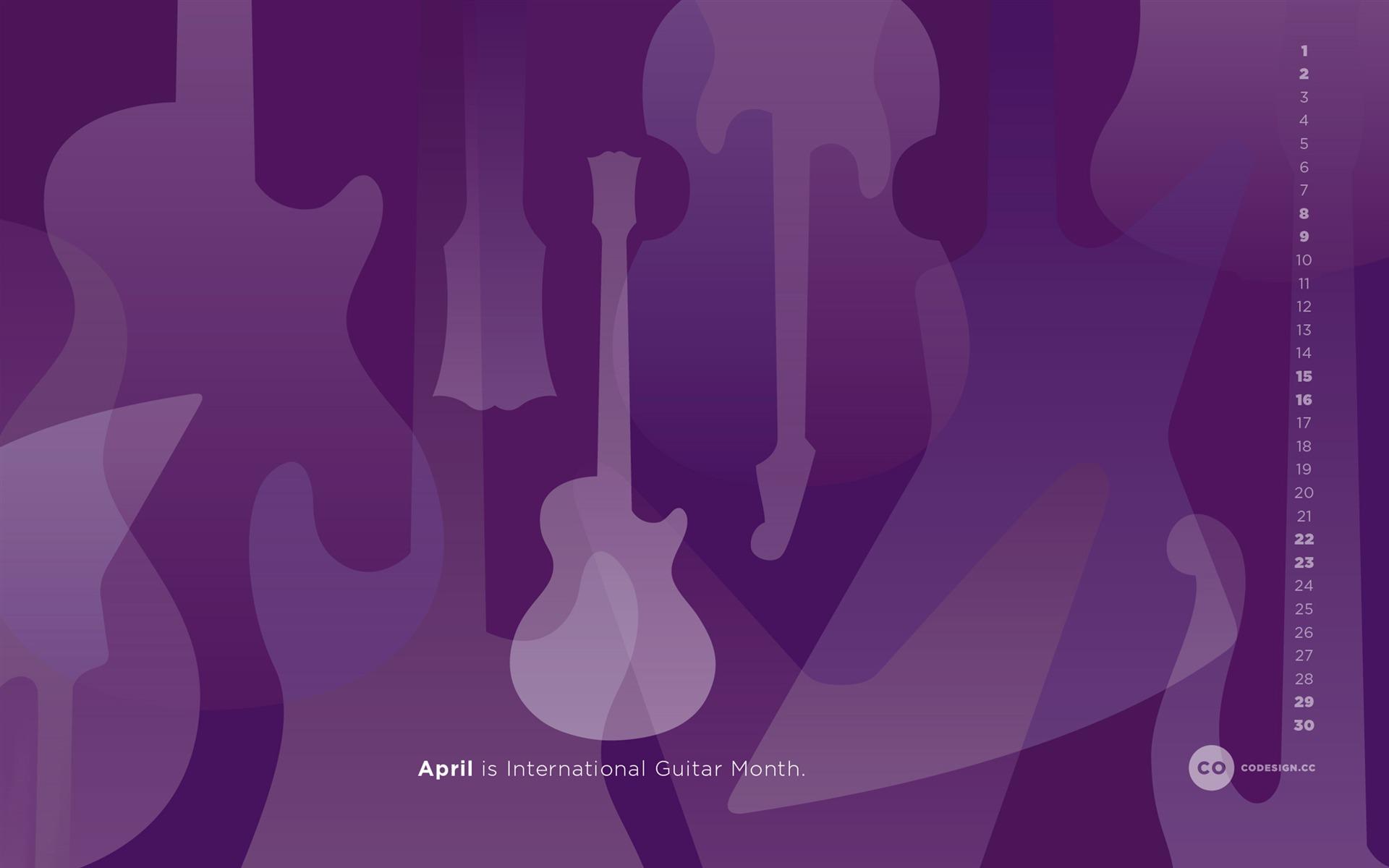紫色雨 2017年四月日历壁纸