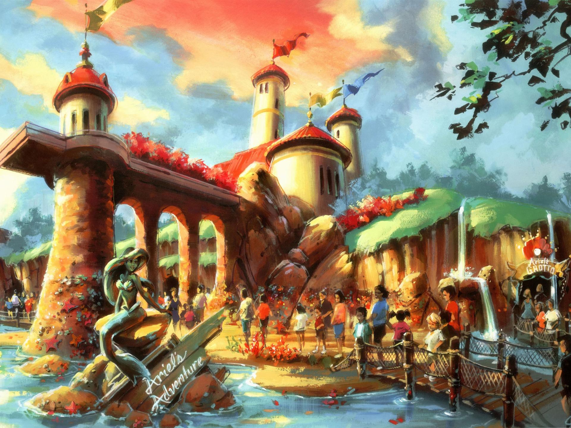 アリエル ディズニーのキャラクターの作業のデスクトップピクチャプレビュー 10wallpaper Com