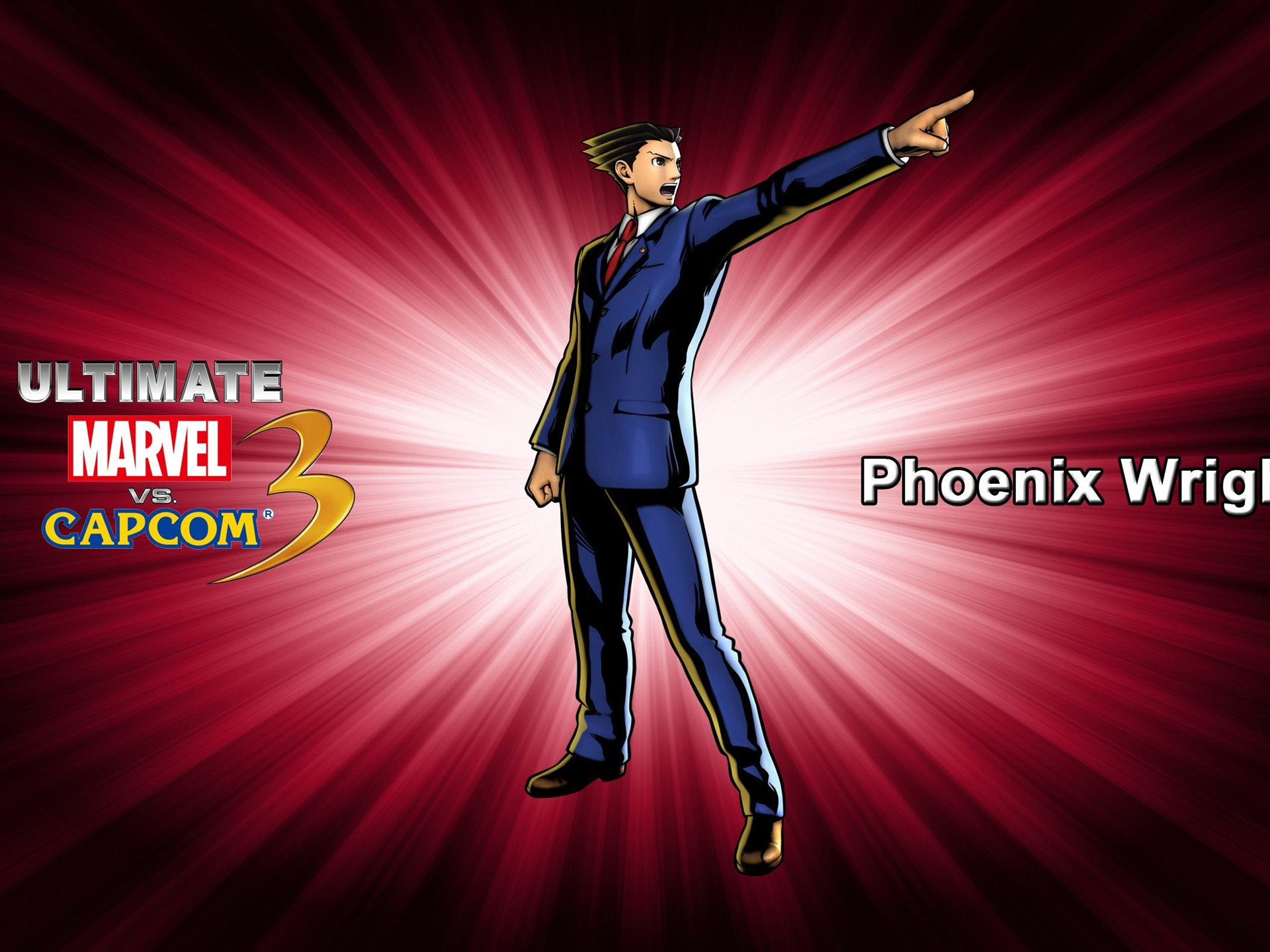 Phoenix Wright Ultimate Marvel Vs Capcom 3 Game Wallpaper Preview