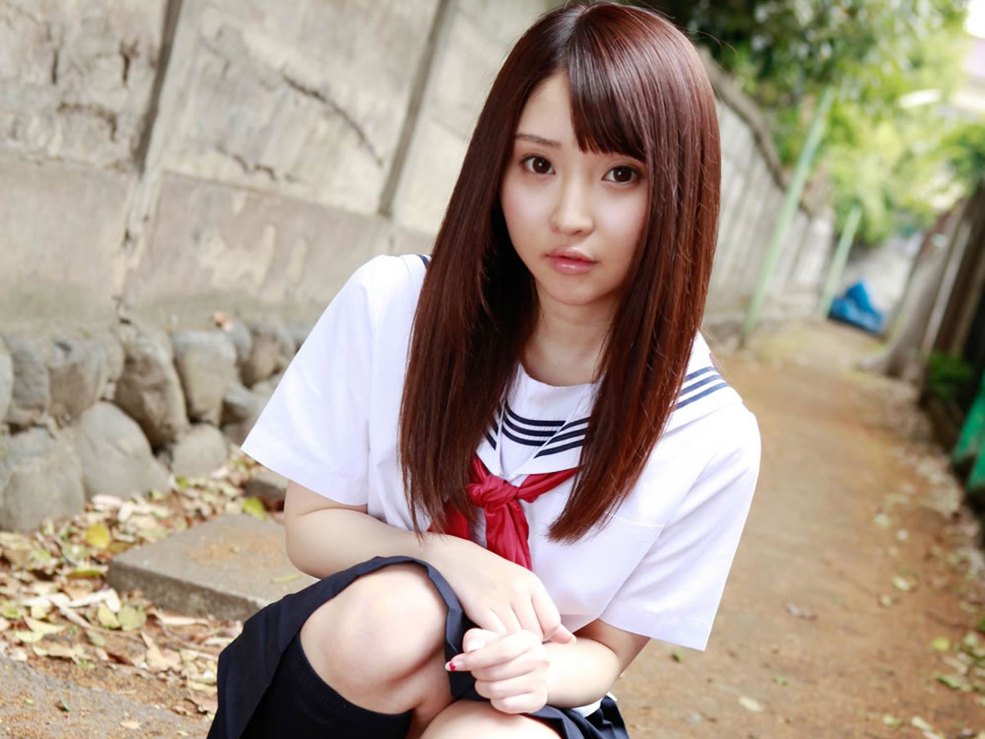 pure japanese school girl with the beat on the streets wallpaper 13