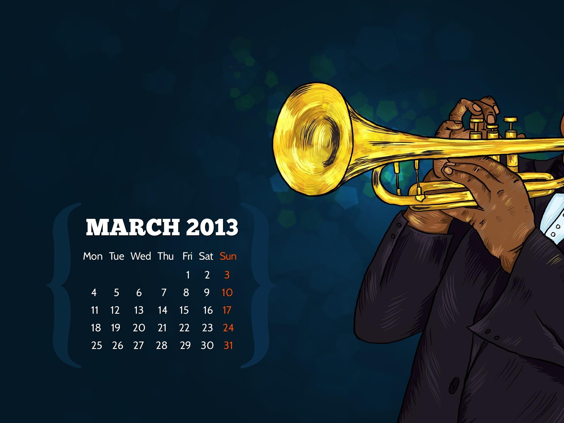 ジャムセッション 13年3月カレンダーデスクトップテーマ壁紙プレビュー 10wallpaper Com