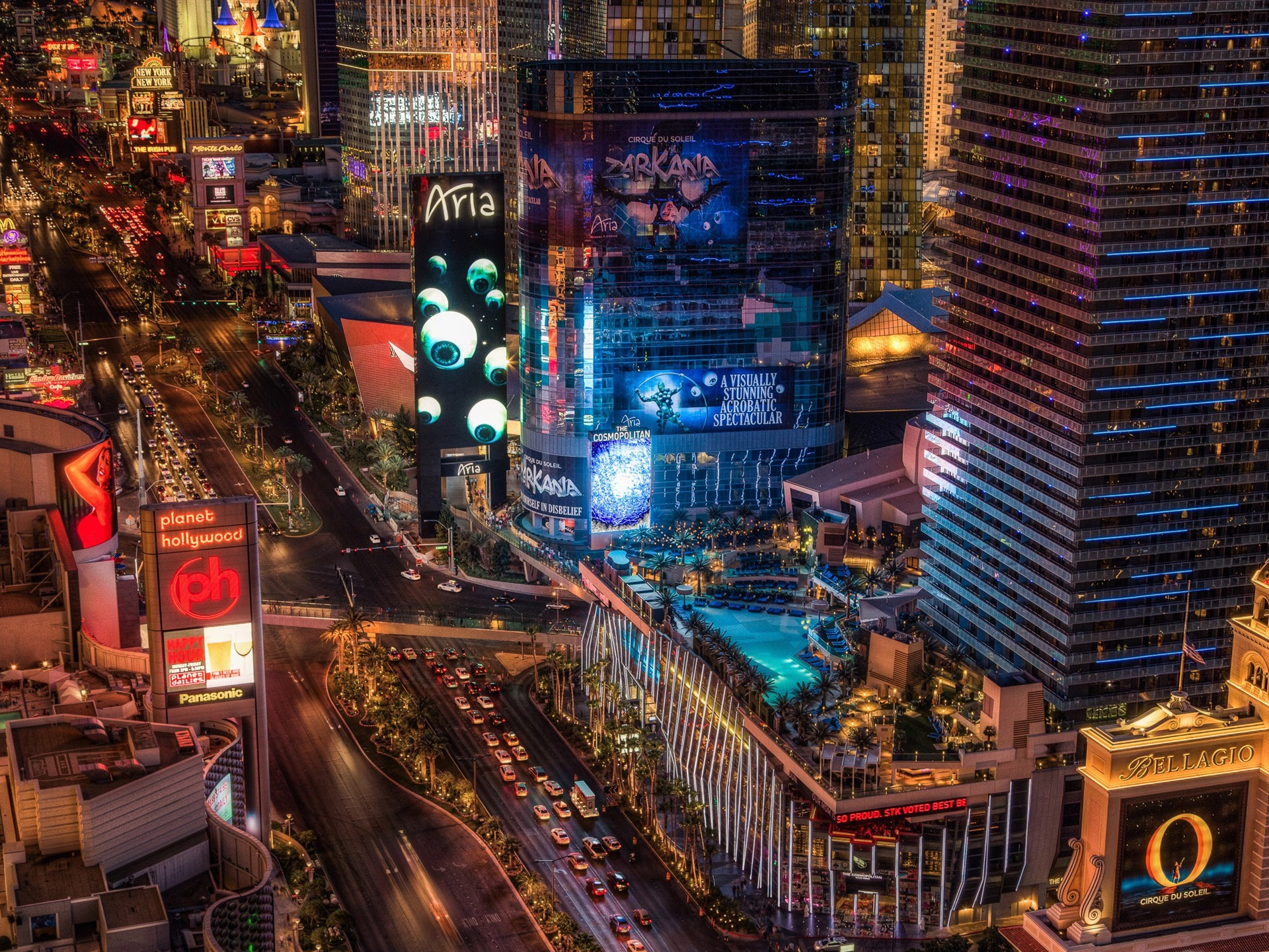 Las Vegas Boulevard Hd Desktop Wallpaper Preview 10wallpaper Com
