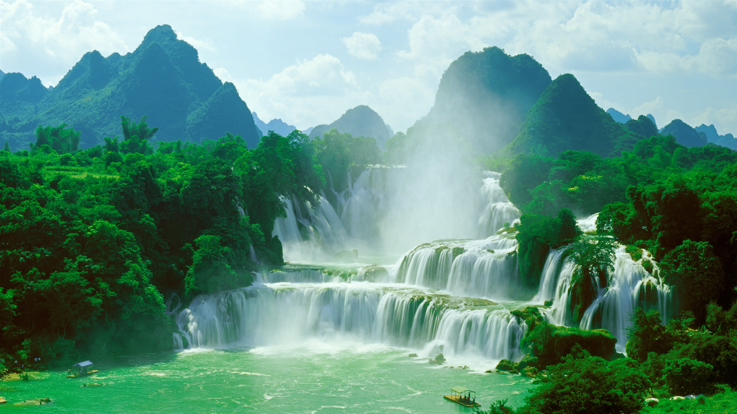 K And K Auto >> China Guangxi travel jungle waterfall 4K Ultra HD Preview | 10wallpaper.com