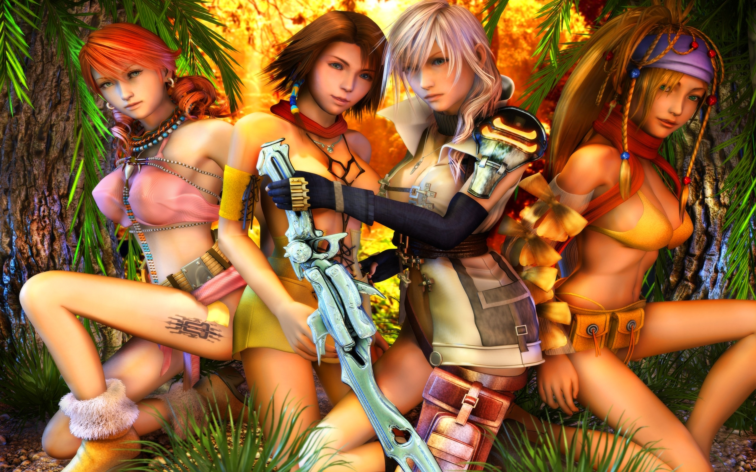 Girls Sexy Classic Game Final Fantasy Wallpaper Preview