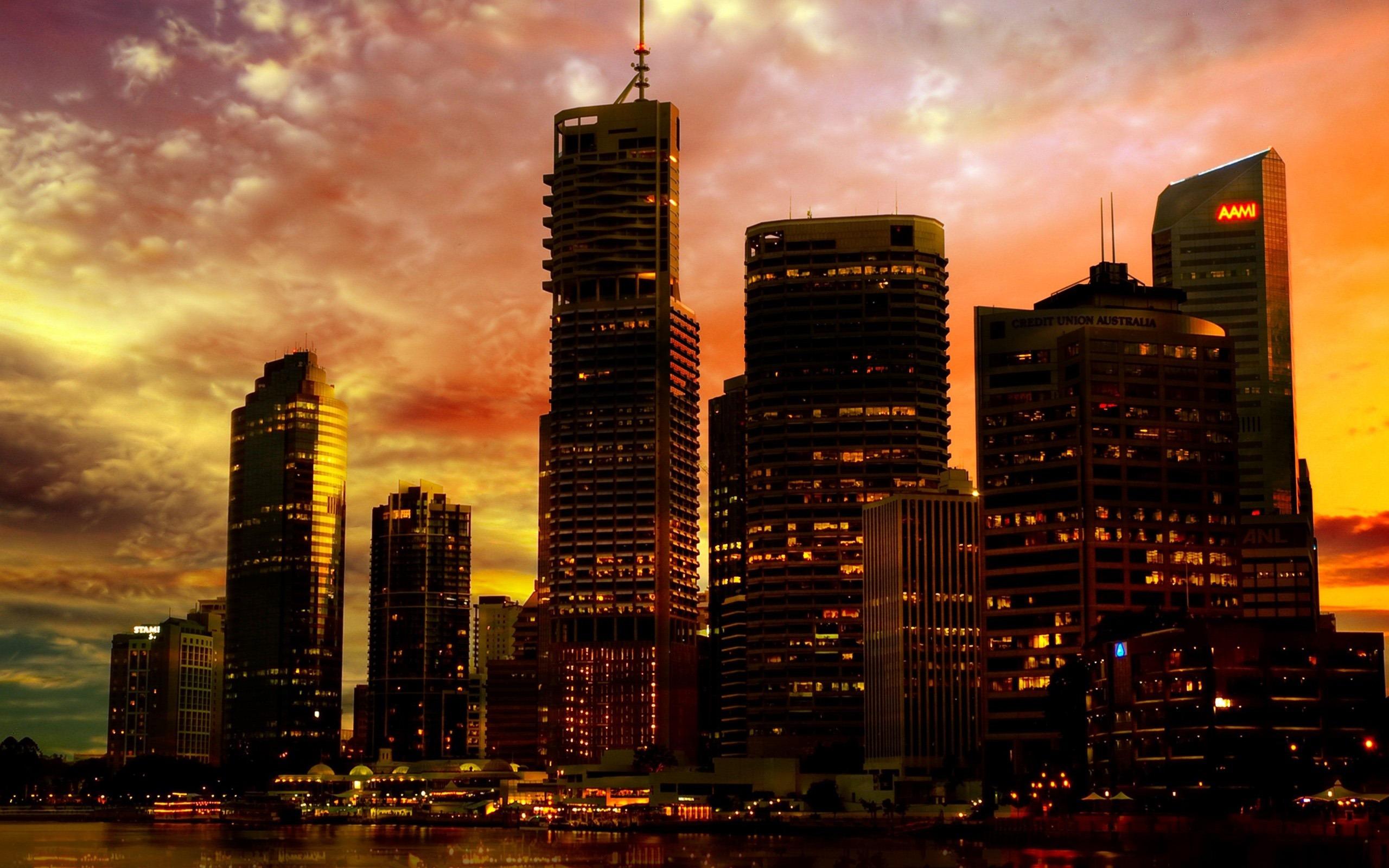 Australie ville wallpaper photographie de paysage urbain for Paysage de ville