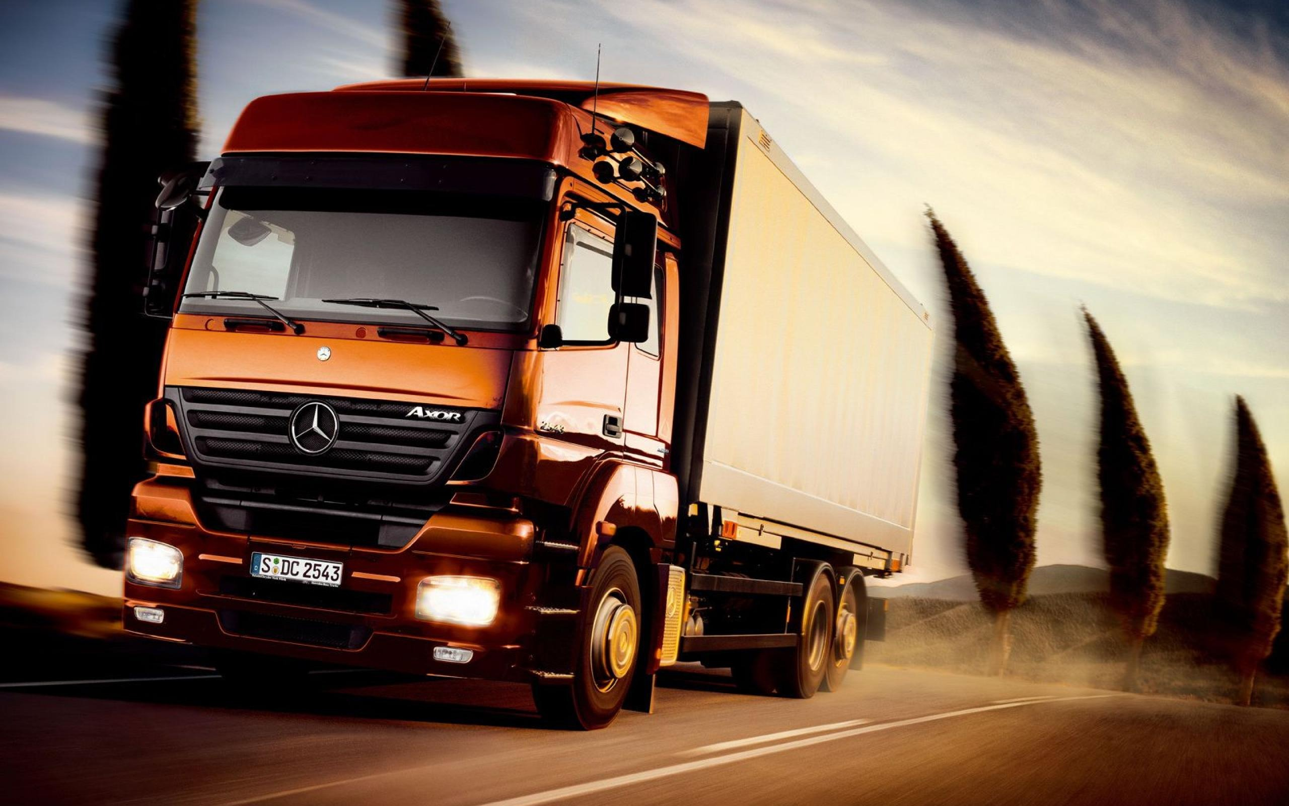 Mercedes Benz Axor Truck Car Transport Photography