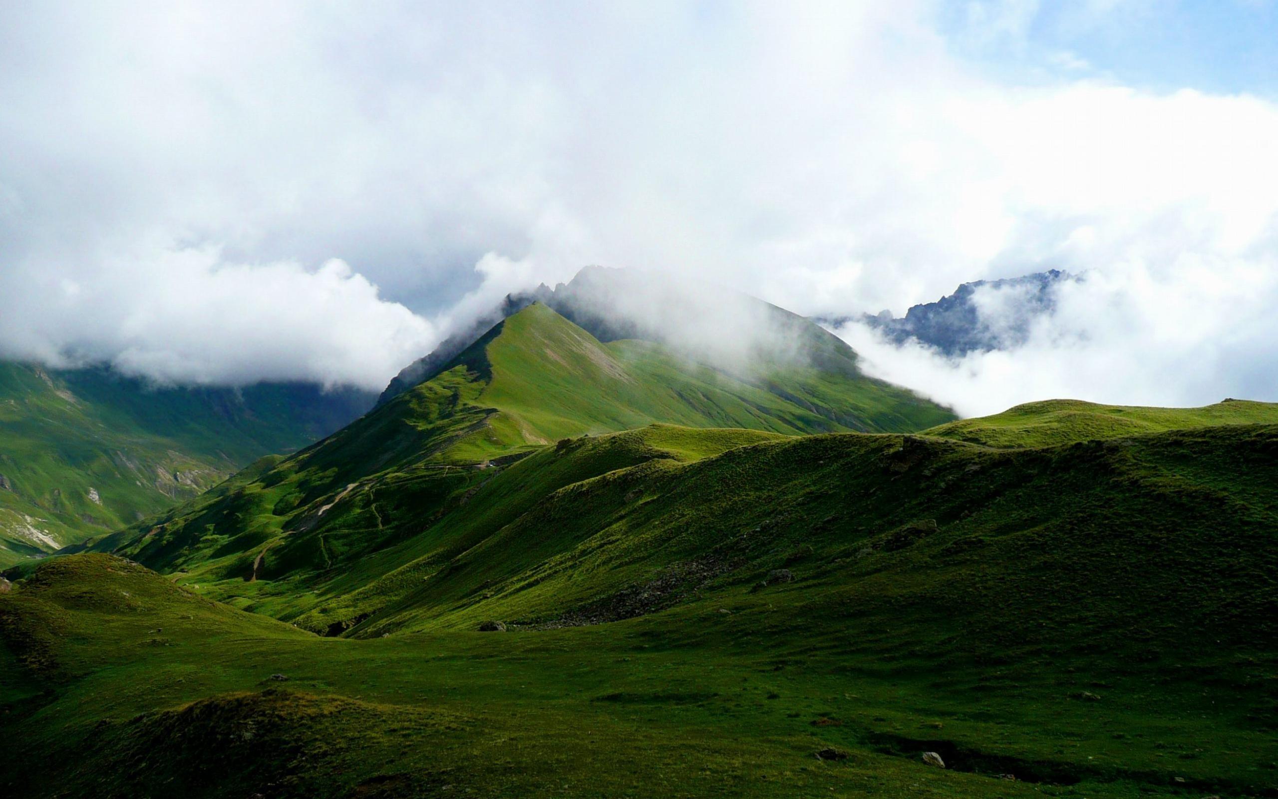 mountain cloud alps france nature landscape wallpaper