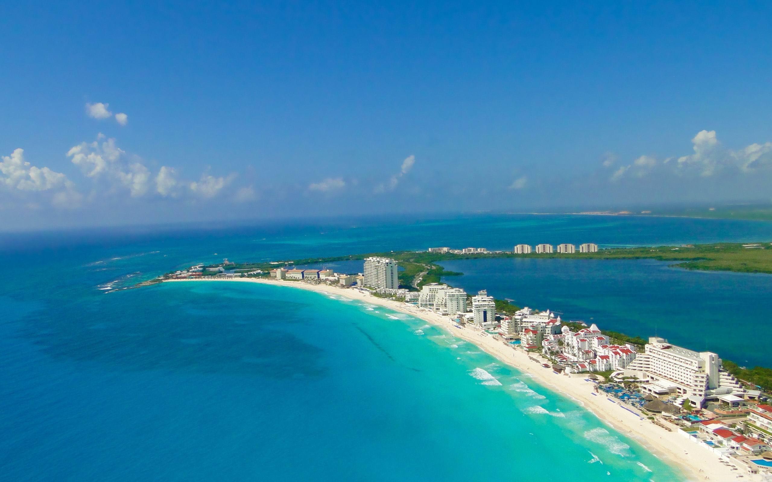 马尔代夫国家_蓝色坎昆-海滩风景壁纸预览   10wallpaper.com