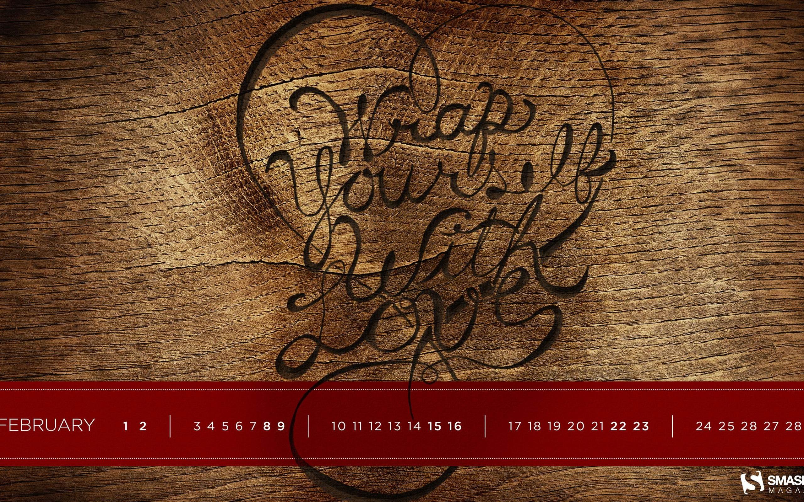 愛を自分でラップする 14年02月カレンダー壁紙プレビュー 10wallpaper Com
