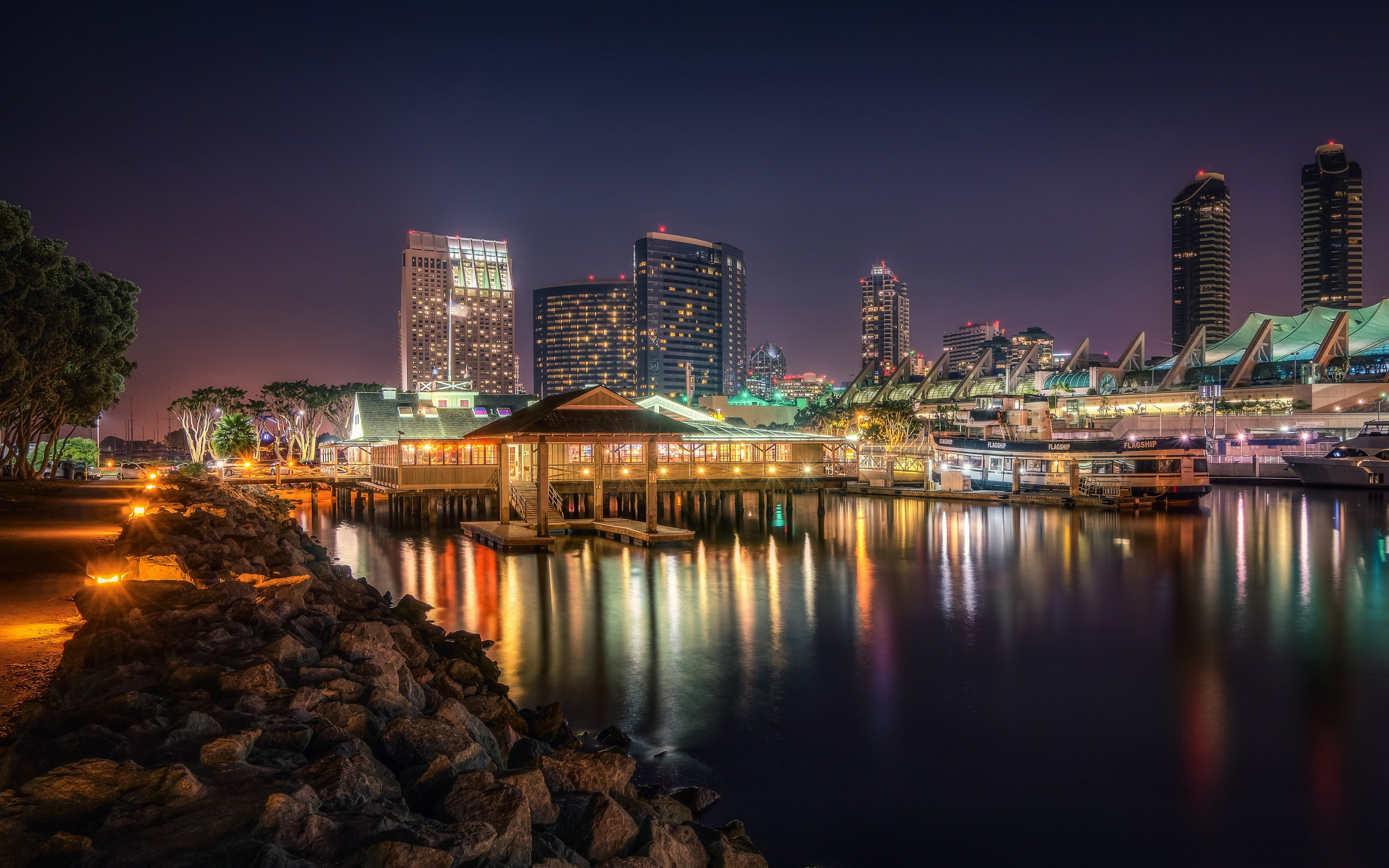 San Diego Night Scene Cities Hd Wallpaper Preview 10wallpaper Com