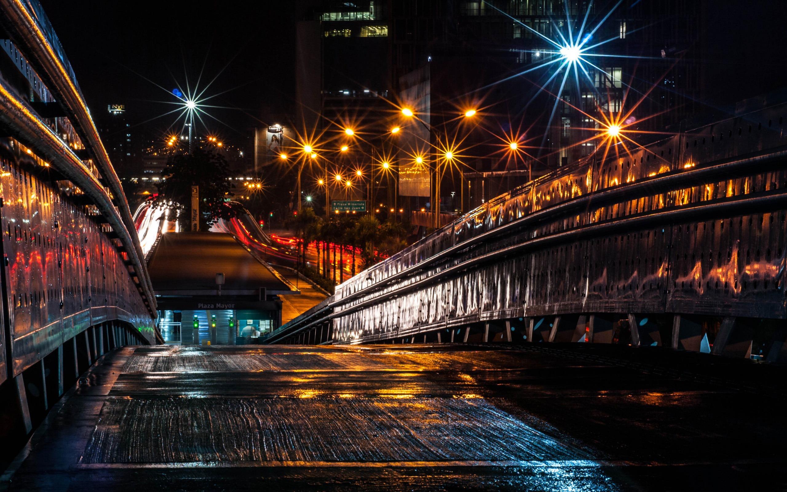 Puente En La Noche Cities Hd Wallpaper Avance 10wallpapercom