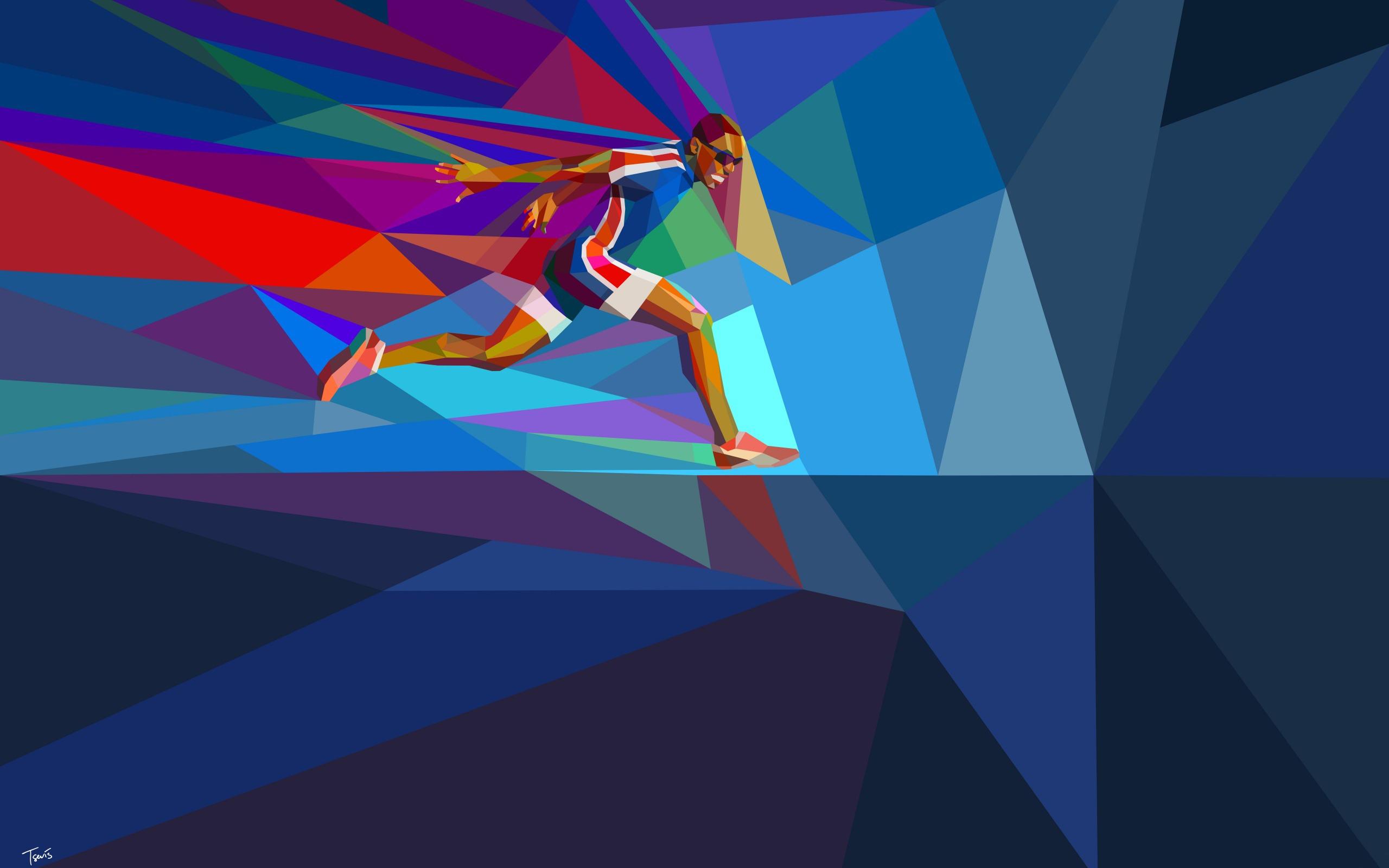Runner Rio 2016 Juegos Olímpicos Hd Vector Wallpaper Avance