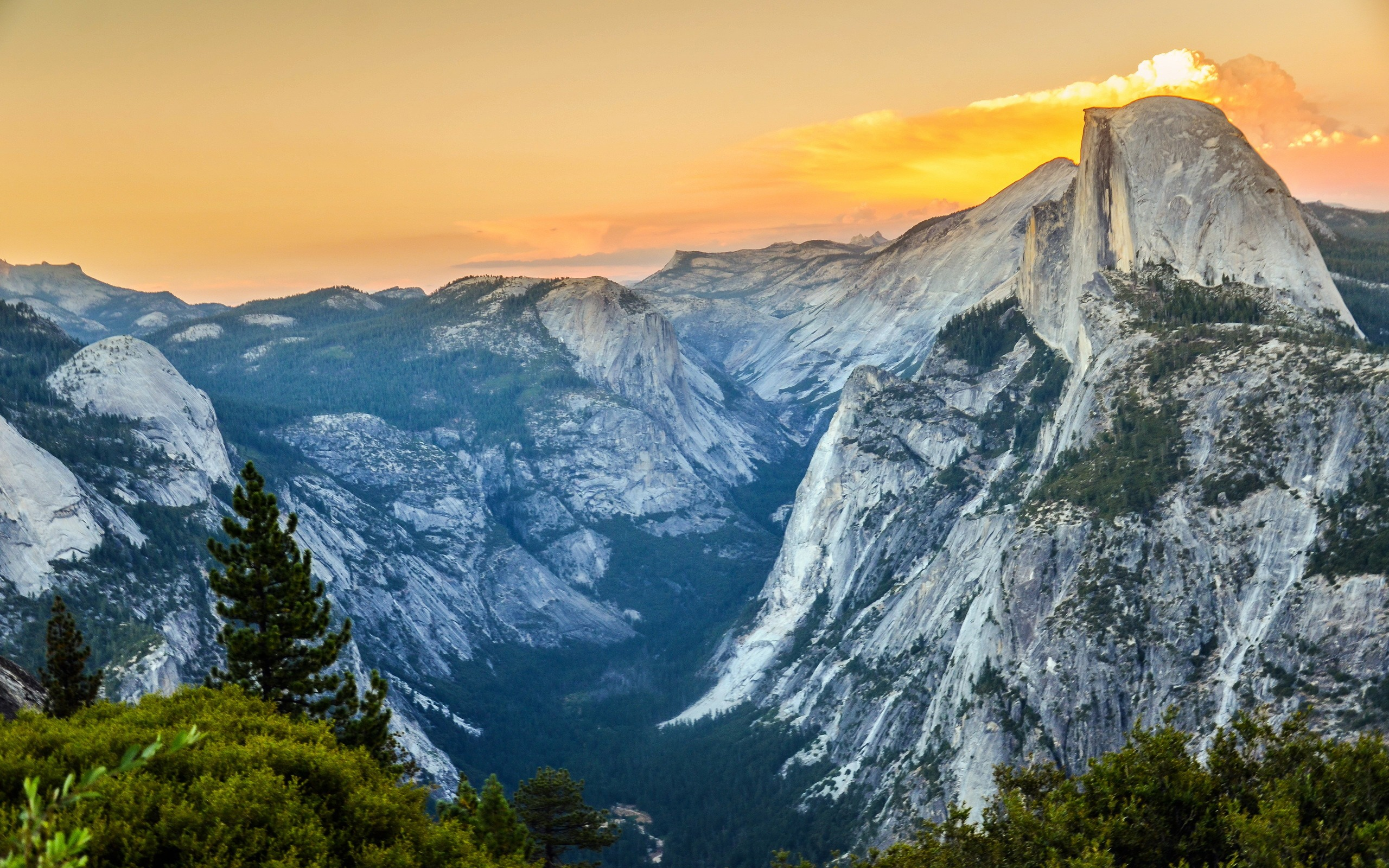 Yosemite National Park Mountains Nature Hd Wallpaper Preview
