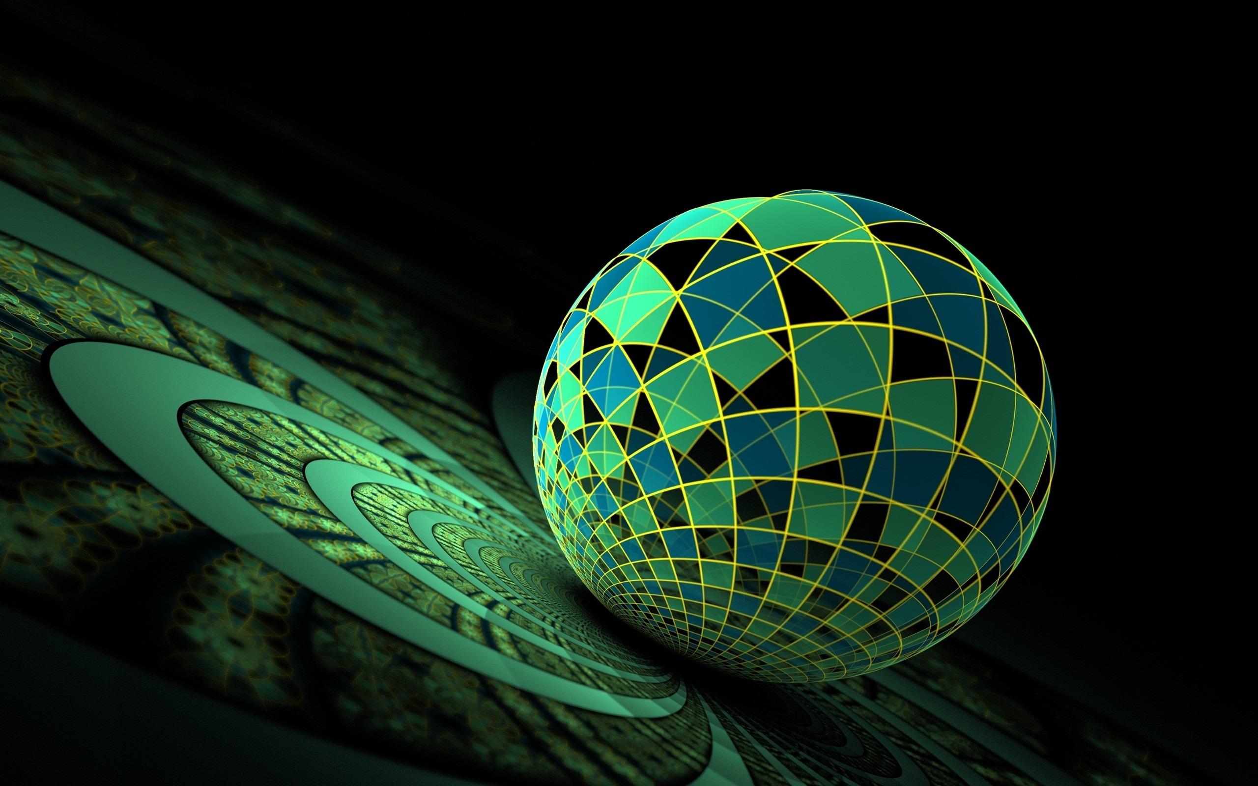 ボール表面の緑色 3dアートワークベクトルの壁紙プレビュー 10wallpaper Com