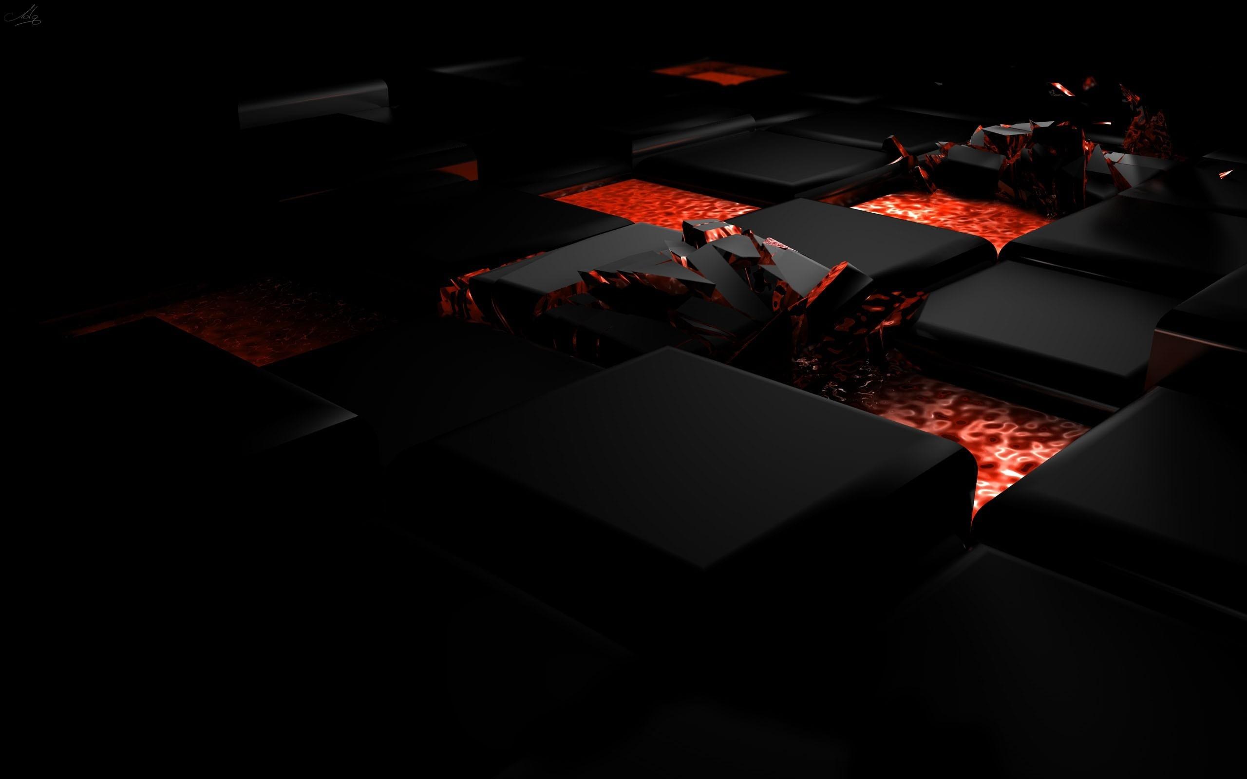 キューブ火災暗い軽合金 3dアートワークベクトルの壁紙プレビュー 10wallpaper Com