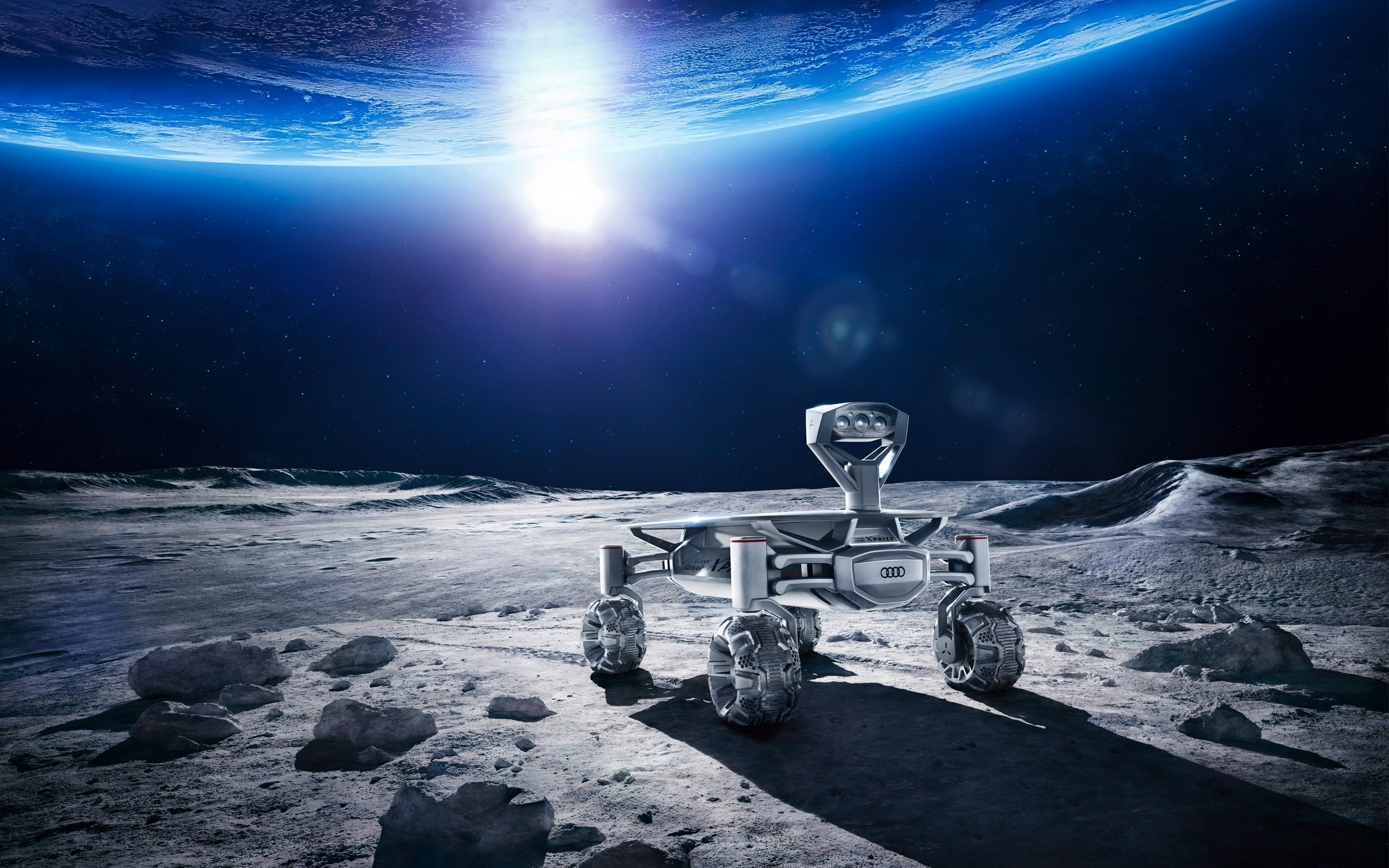 奧迪月球車hd 宇宙高清壁紙預覽 10wallpaper Com