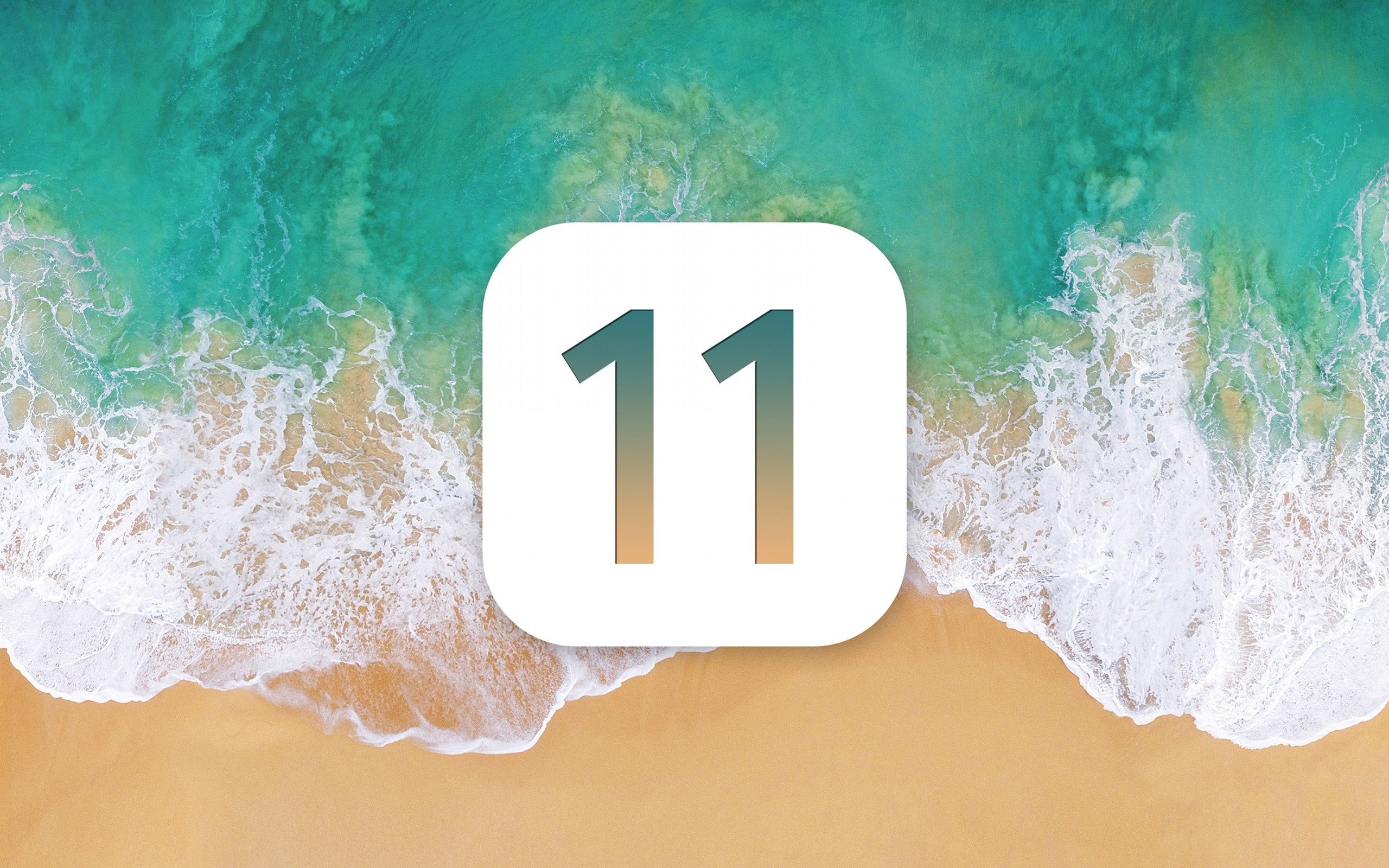 Beach Waves Apple Ios 11 Iphone 8 Iphone X Hd Wallpaper Preview 10wallpaper Com