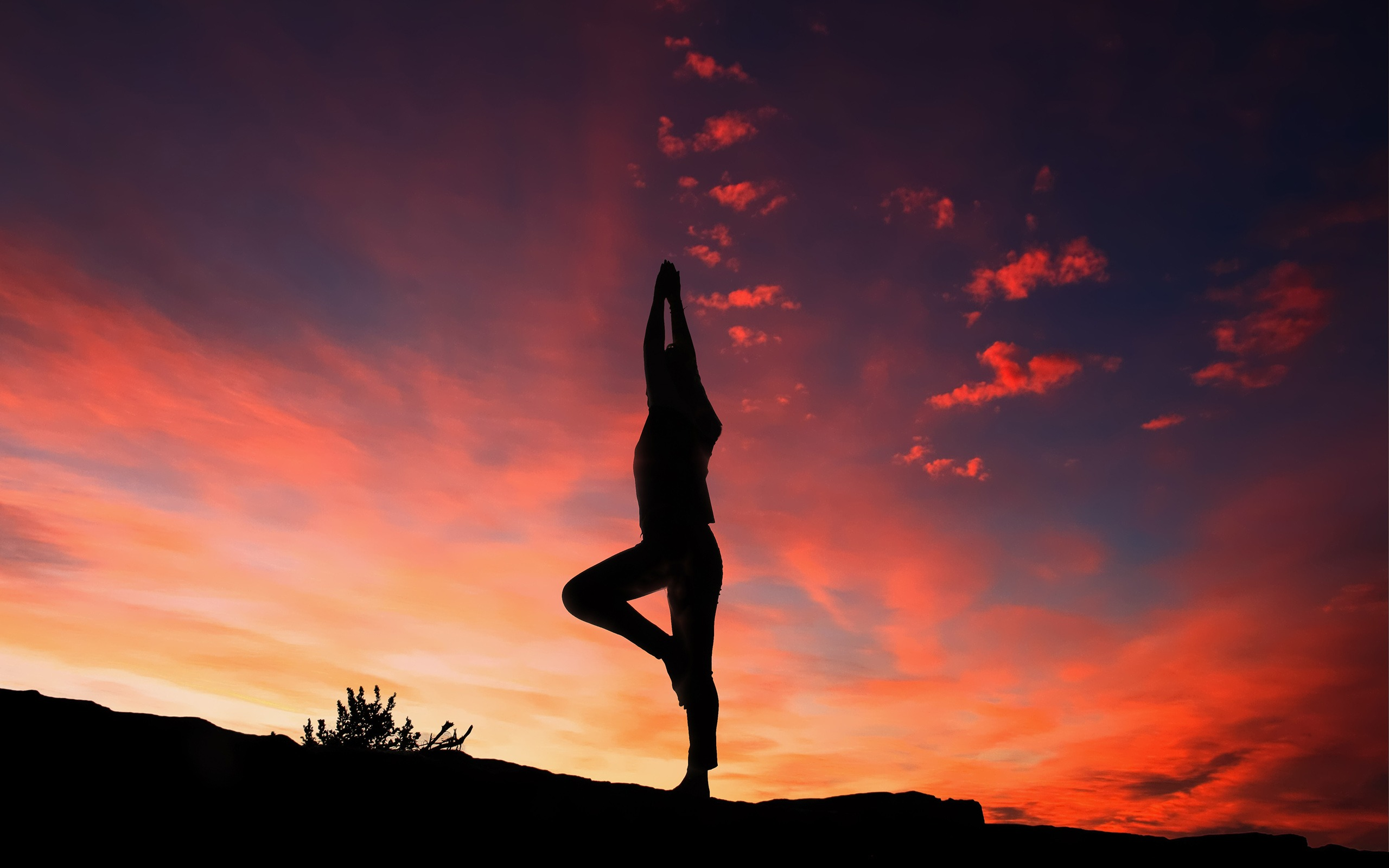 Sunset Yoga Silhouette High Quality Wallpaper Preview 10wallpaper Com
