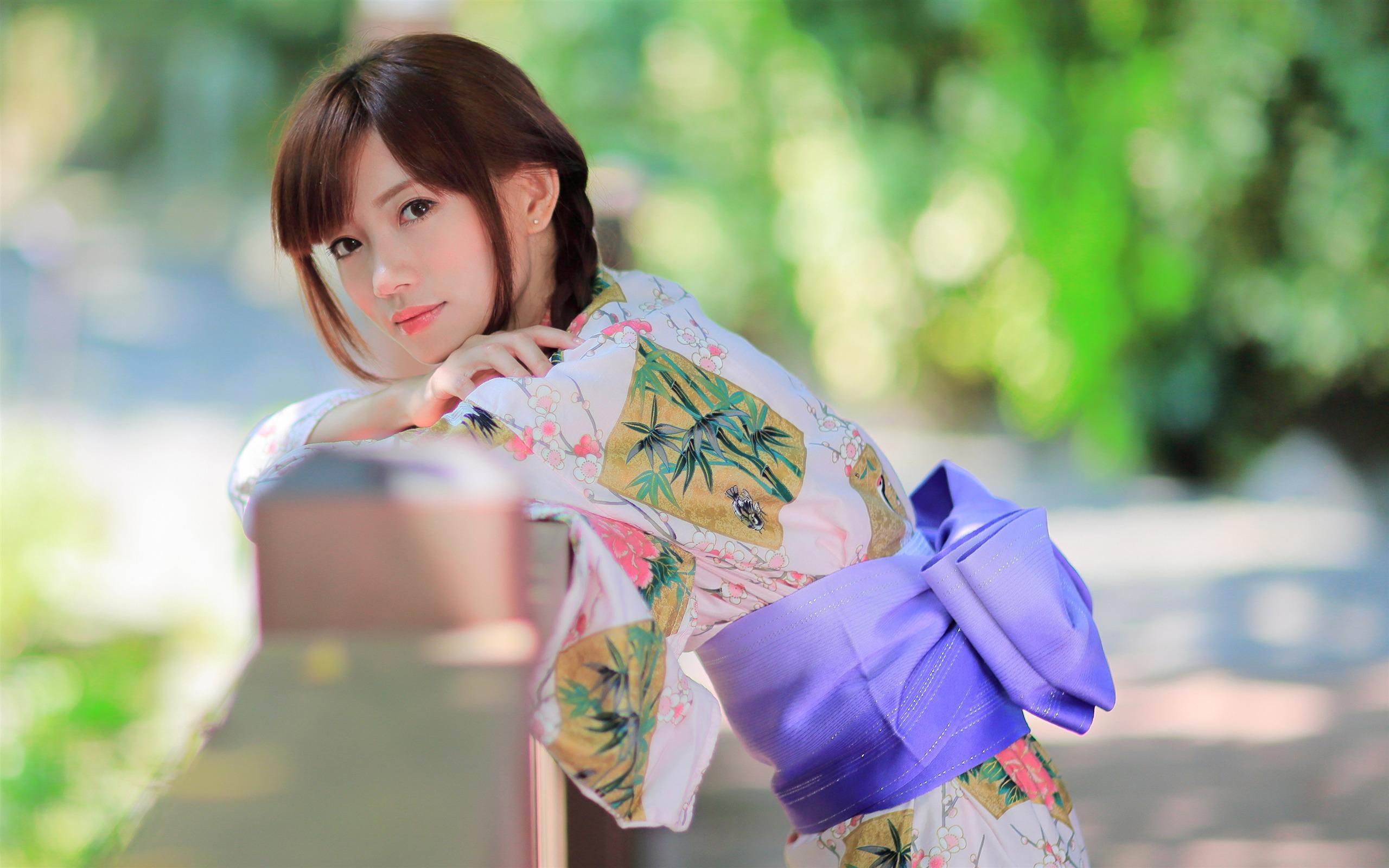 韩国女组合少女时代_夏季,日本,户外,和服,美女,4K预览 | 10wallpaper.com